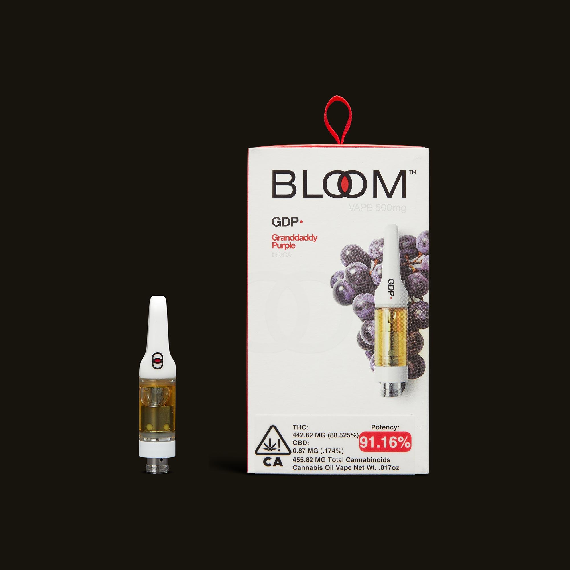 Bloom Brands Granddaddy Purple Cartridge - .5g