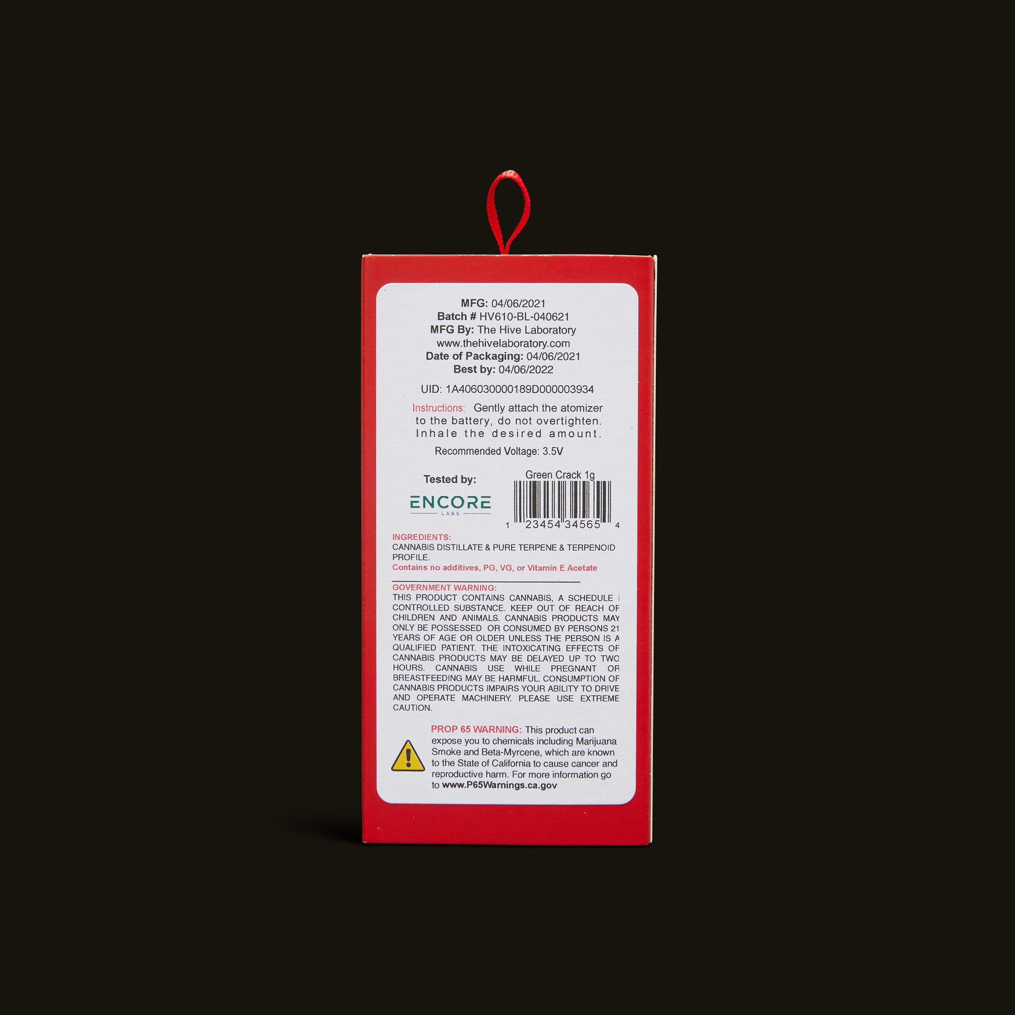 Bloom Brands Vape Pen - Green Crack Cartridge - 1g
