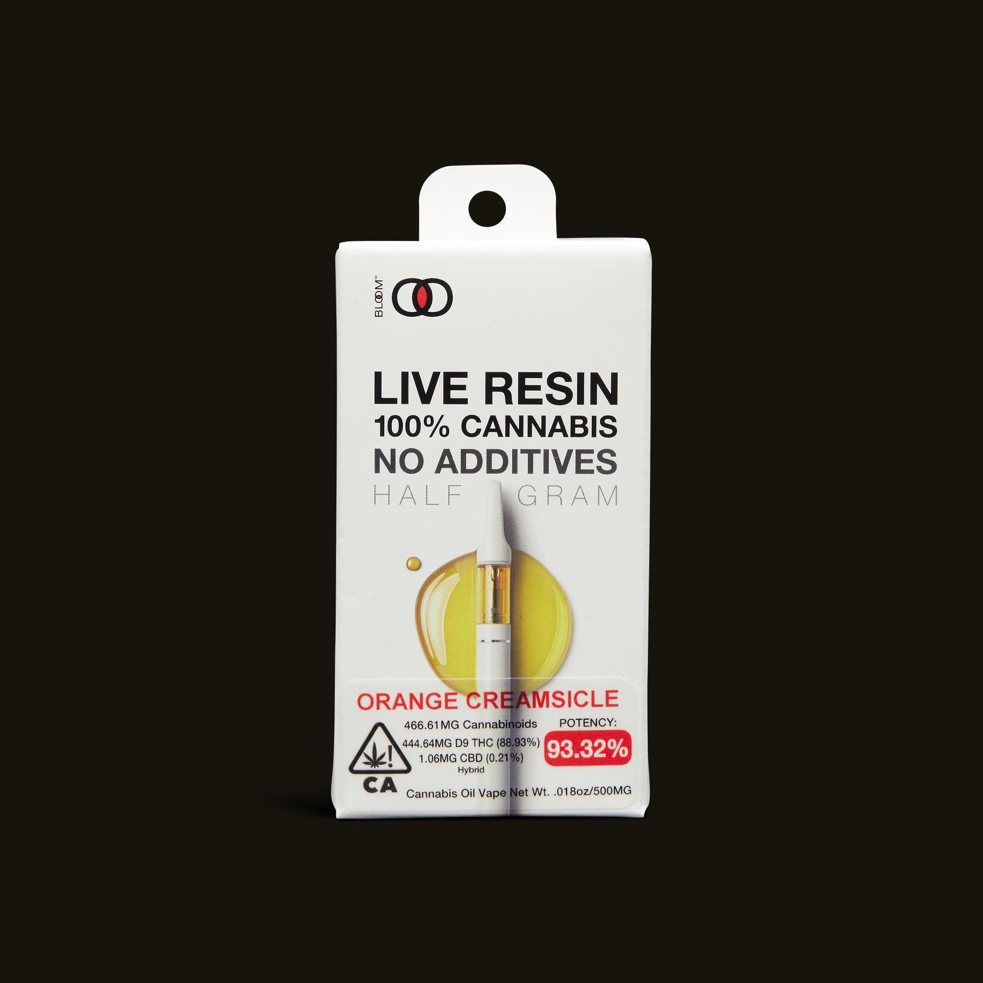 Orange Creamsicle Live Resin Cartridge - 1g - 1g cartridge