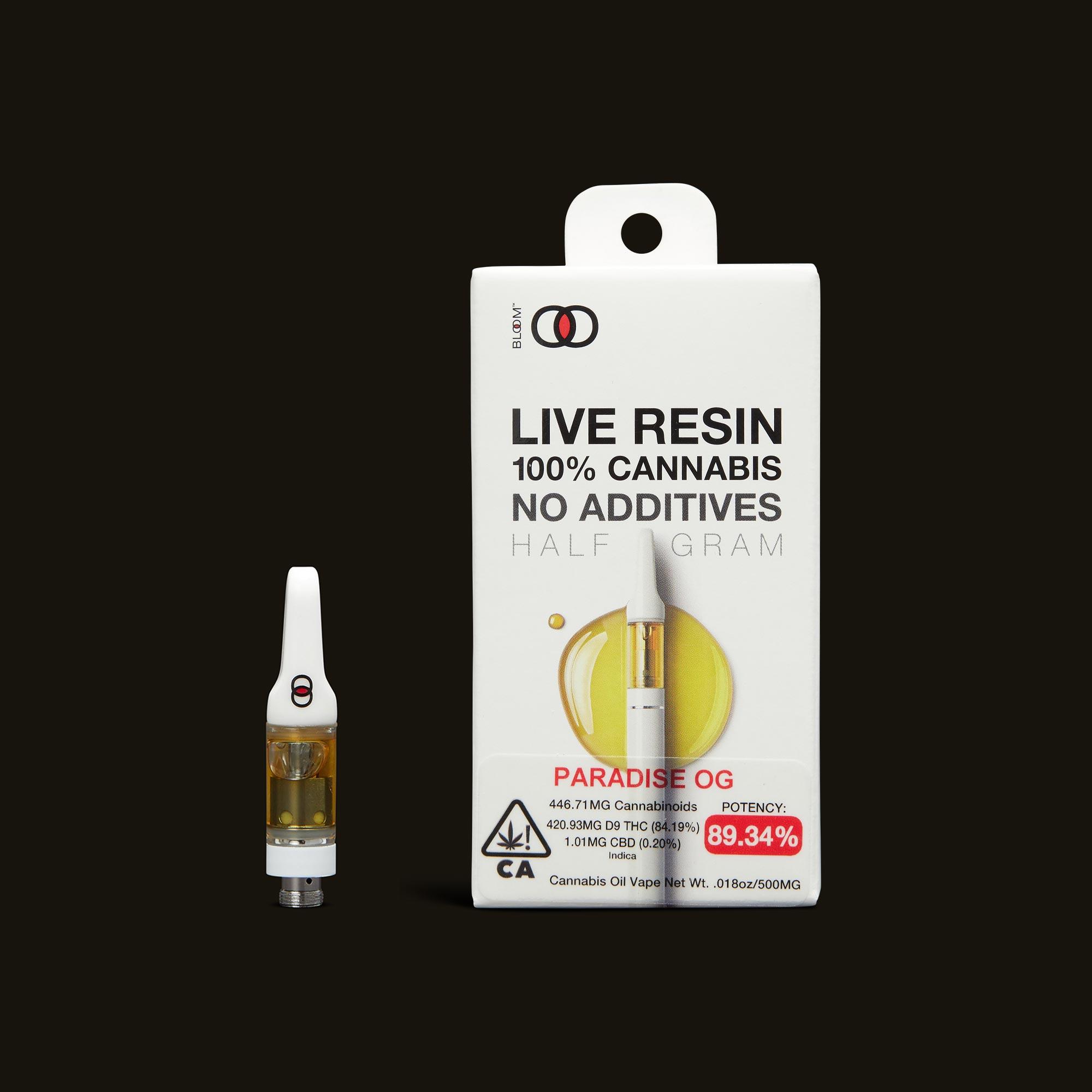 Bloom Brands Paradise OG Live Resin Cartridge - .5g