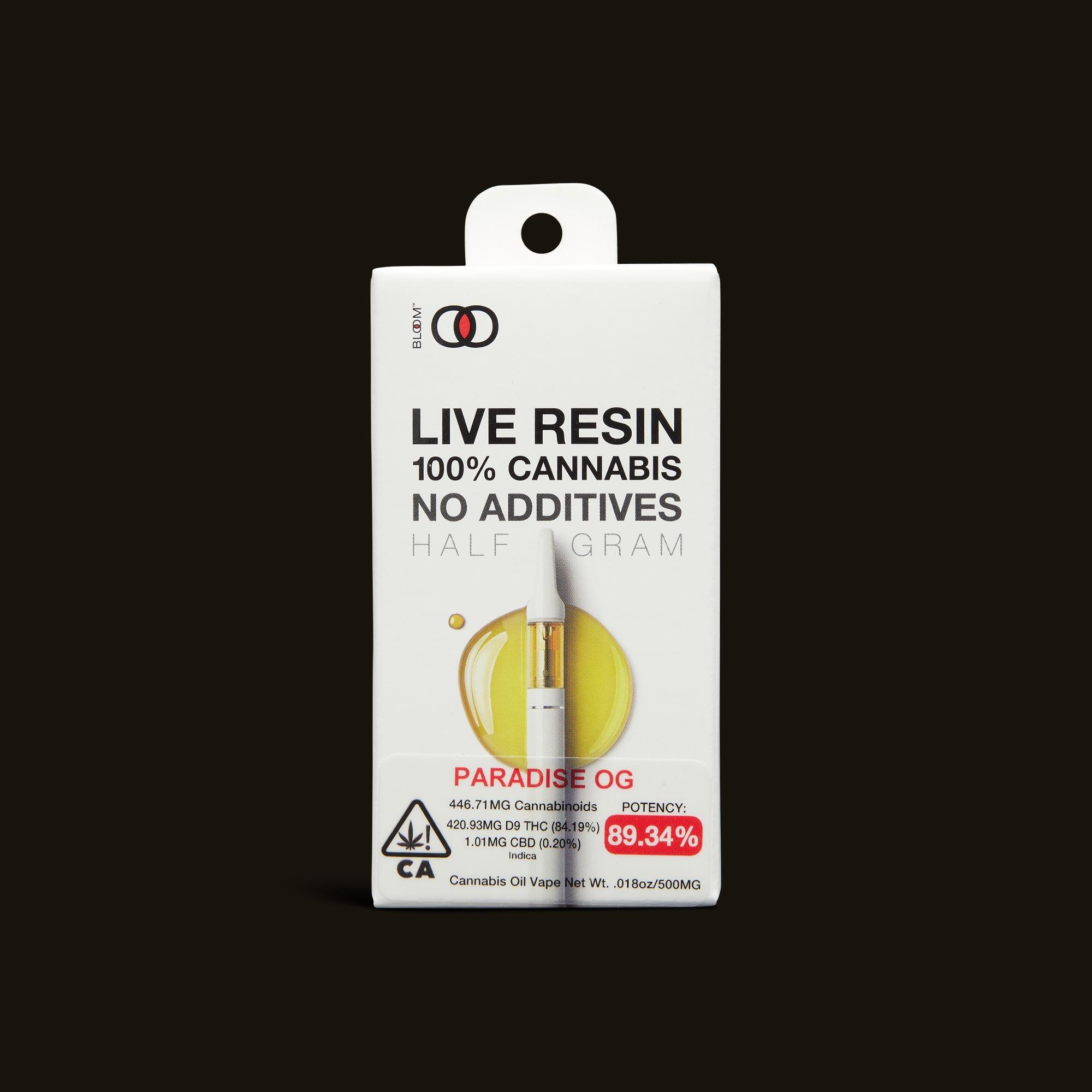 Paradise OG Live Resin Cartridge - 1g - 1g cartridge