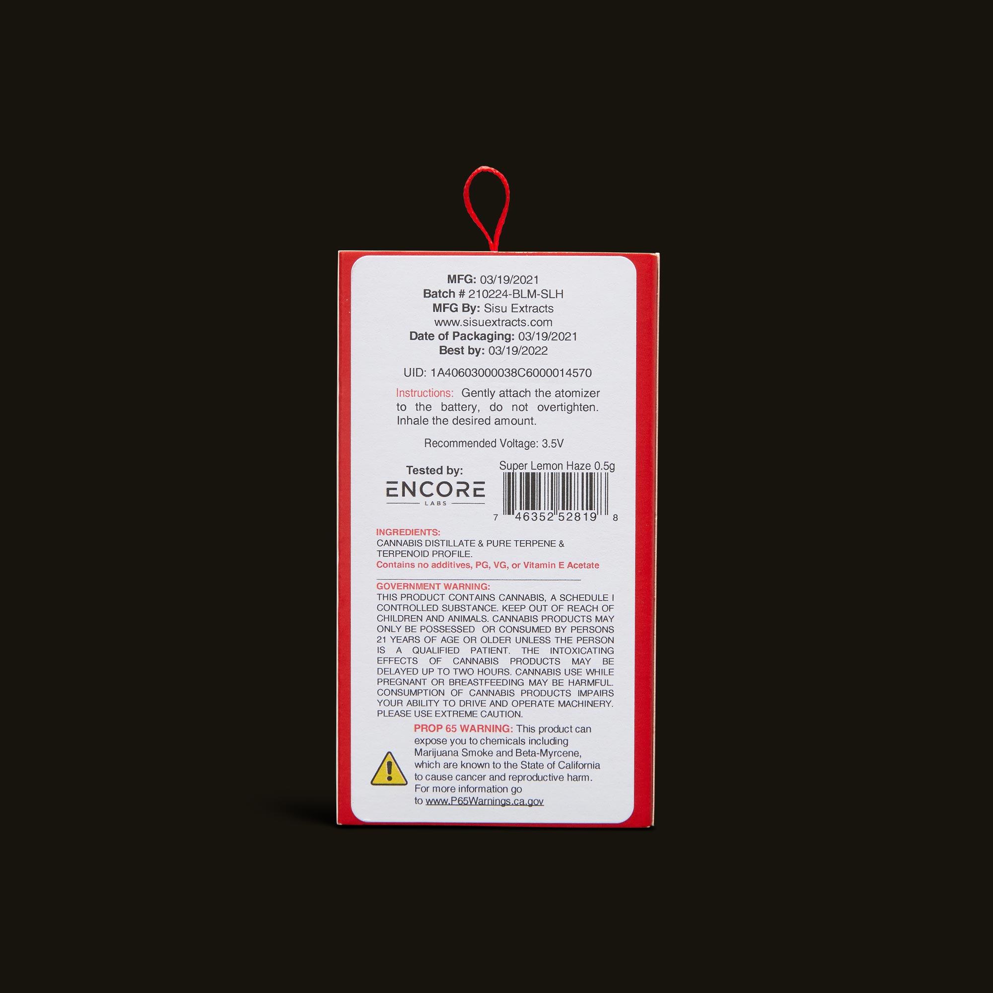 Bloom Brands Vape Pen - Super Lemon Haze Cartridge - .5g
