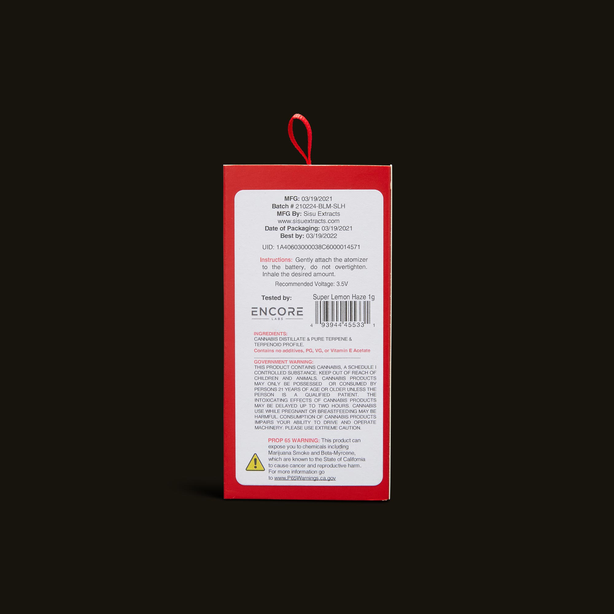 Bloom Brands Vape Pen - Super Lemon Haze Cartridge - 1g