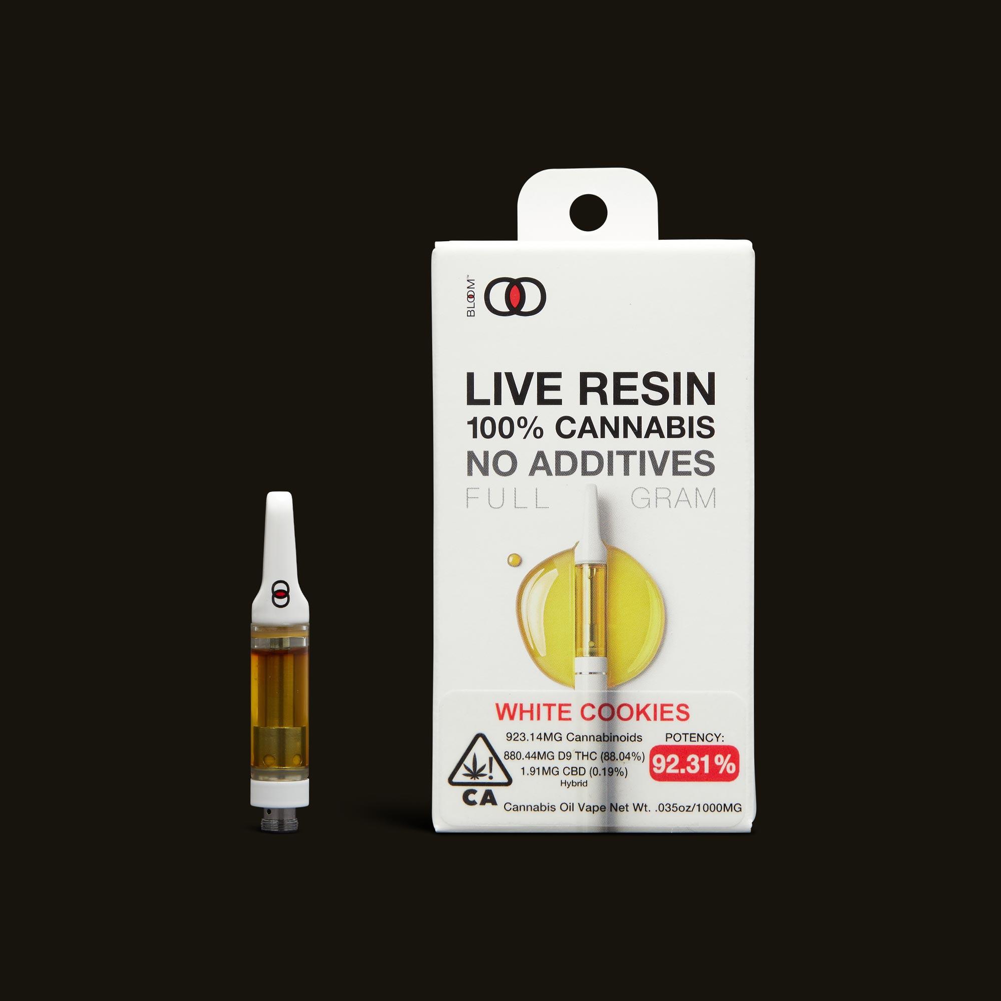 Bloom Brands White Cookies Live Resin Cartridge - 1g