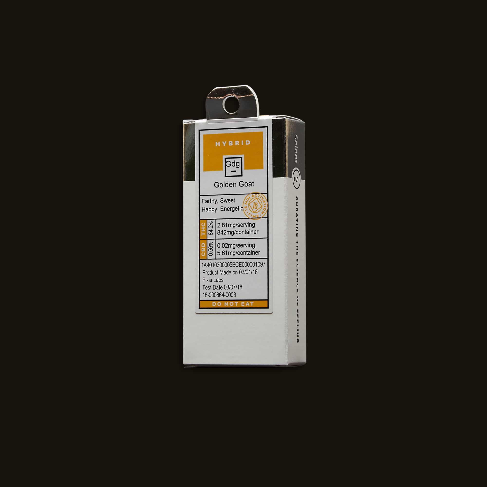 Select Oil Golden Goat Elite Cartridge