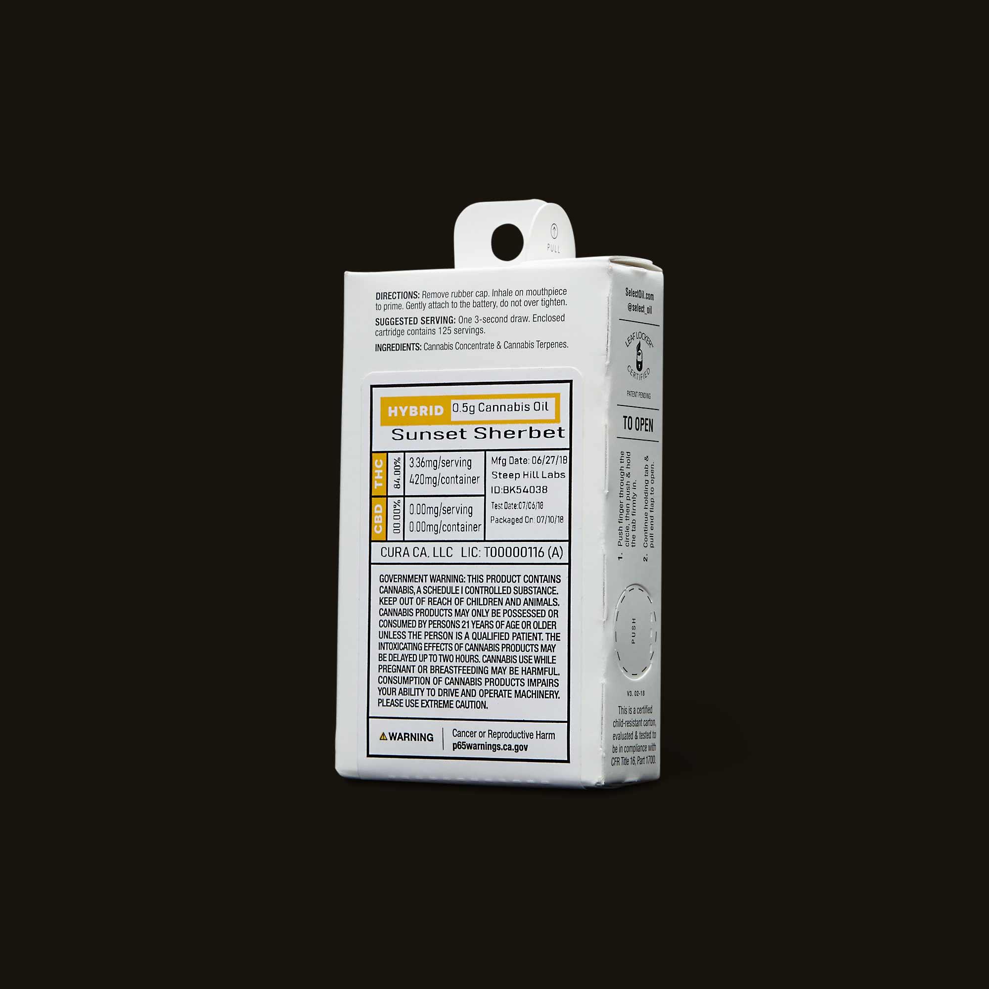 Select Oil Sunset Sherbet Elite Cartridge