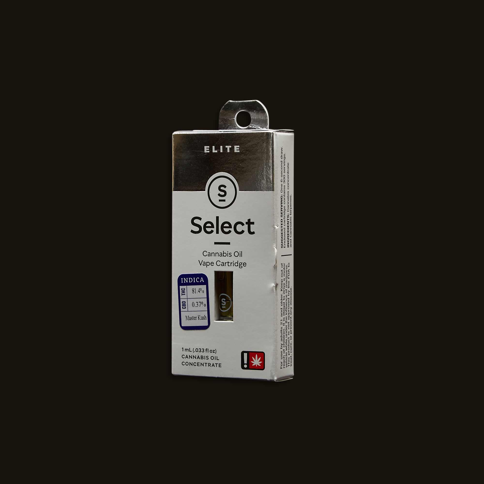 Select Master Kush Elite Cartridge