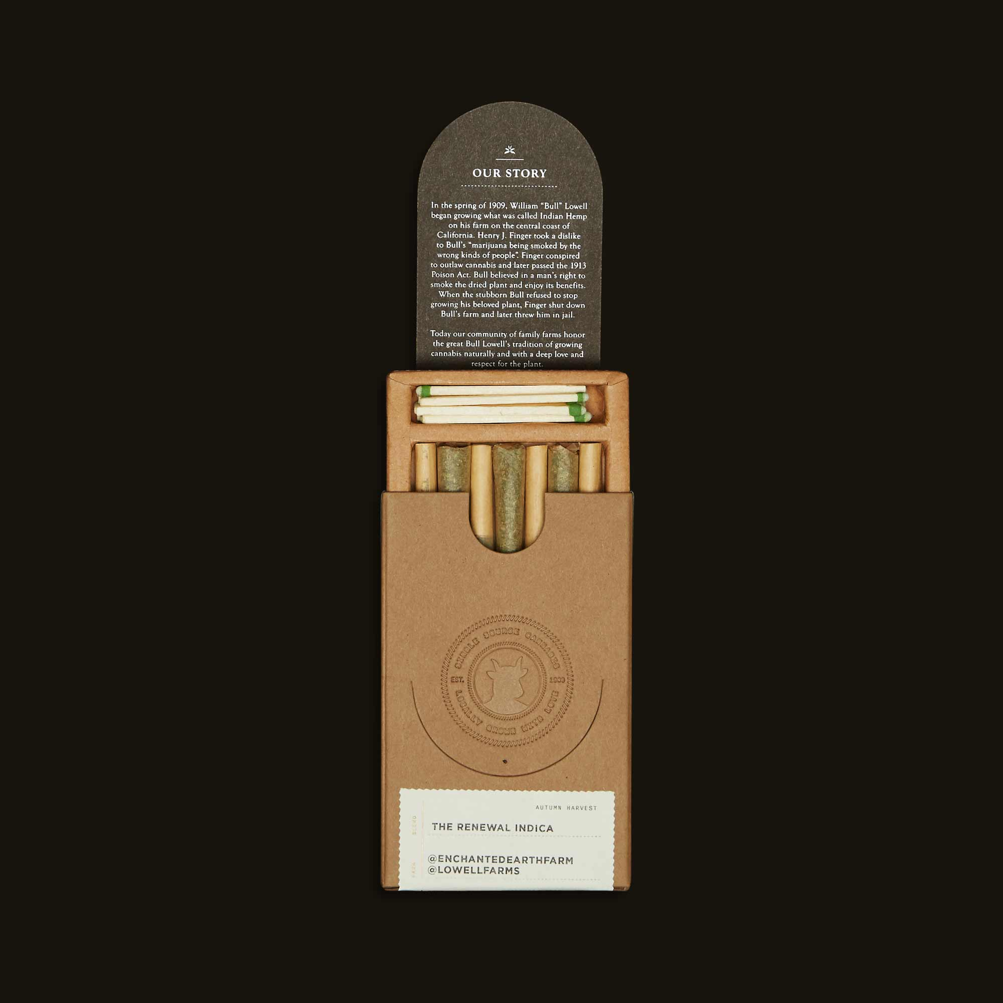 The Renewal Indica Pack - Seven 0.5g joints, Fourteen 0.5g joints