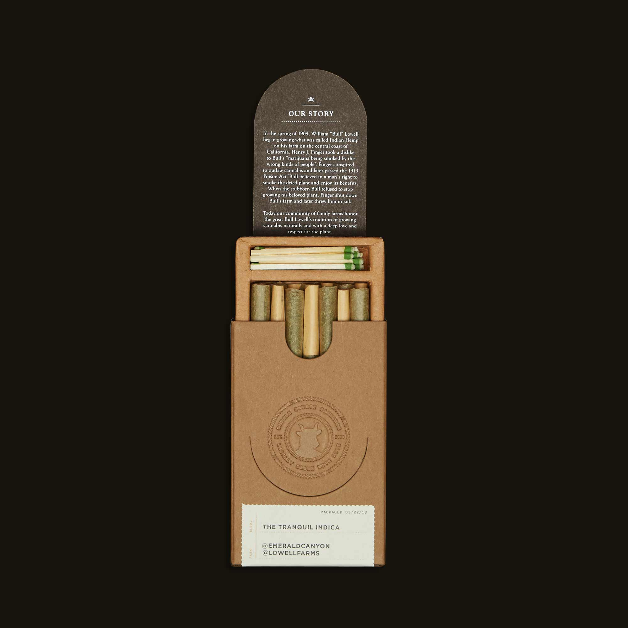 The Tranquil Indica Pack - Seven 0.5g joints, Fourteen 0.5g joints