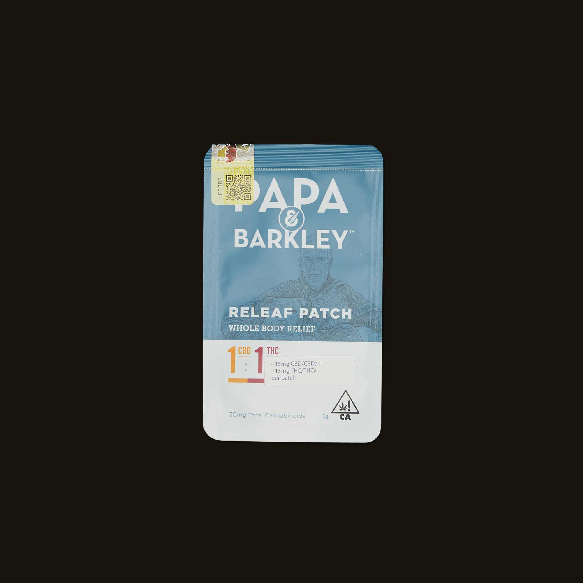 Papa & Barkley 1:1 CBD:THC Releaf Patch