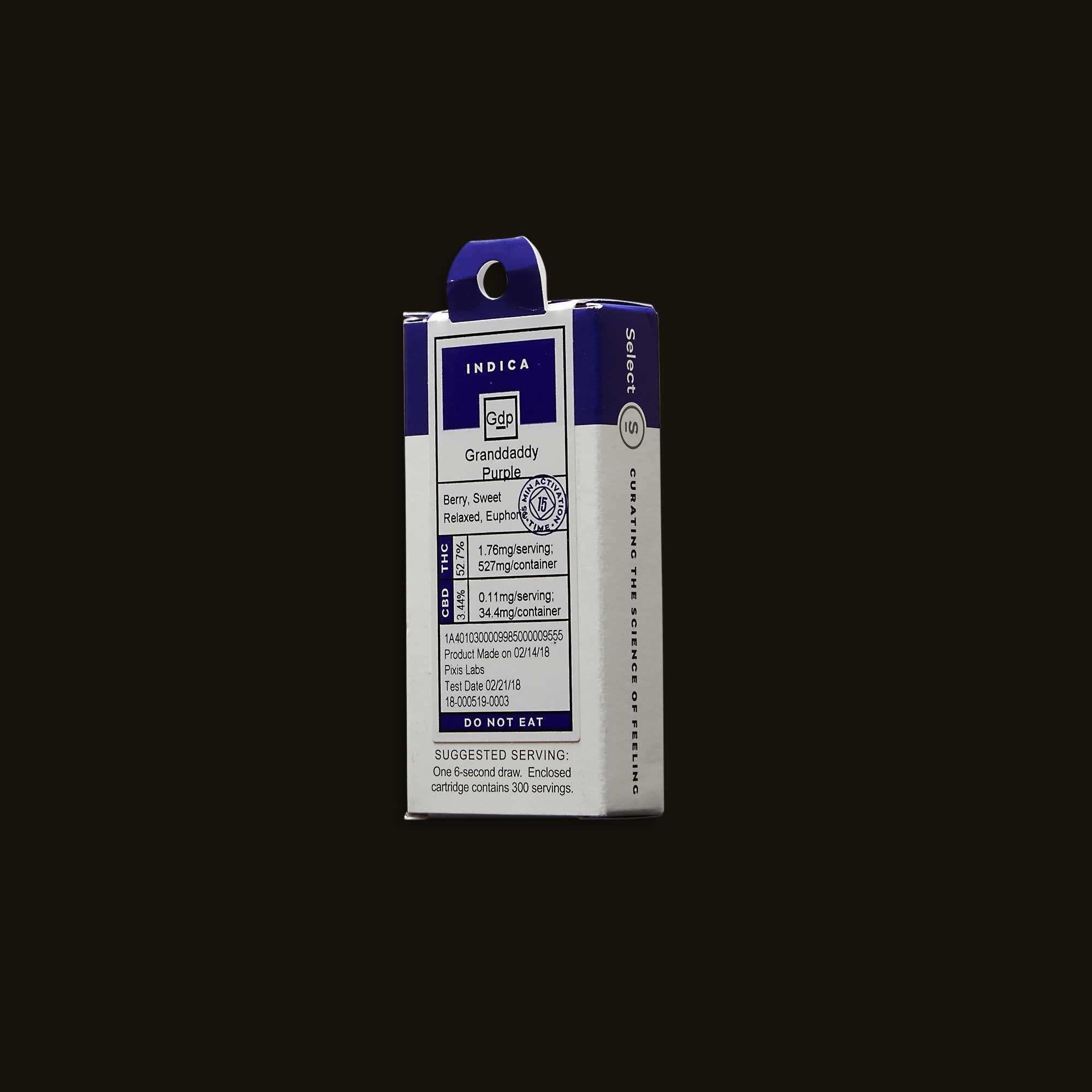 Select Oil Granddaddy Purple Cartridge