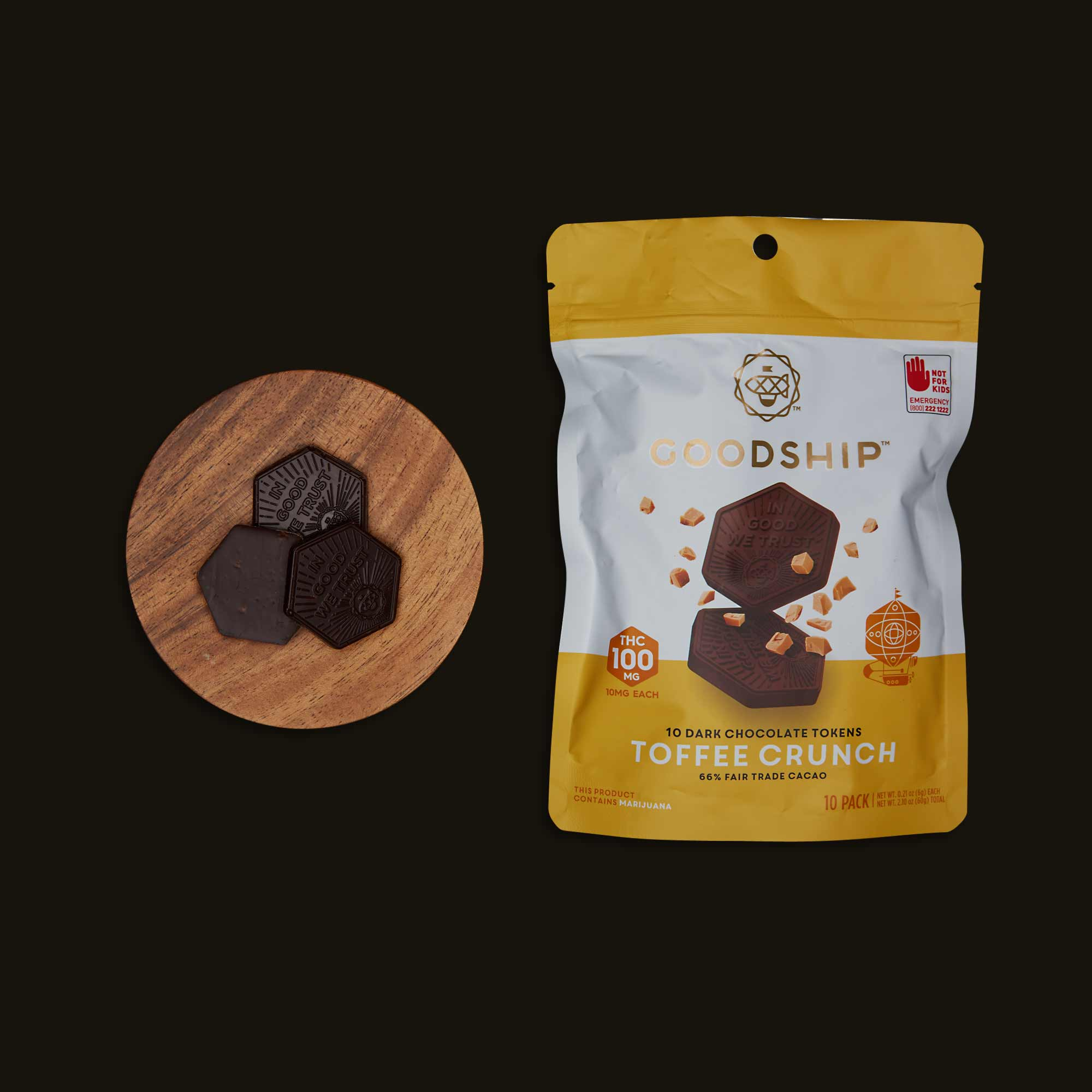 Goodship Toffee Crunch Chocolate Tokens