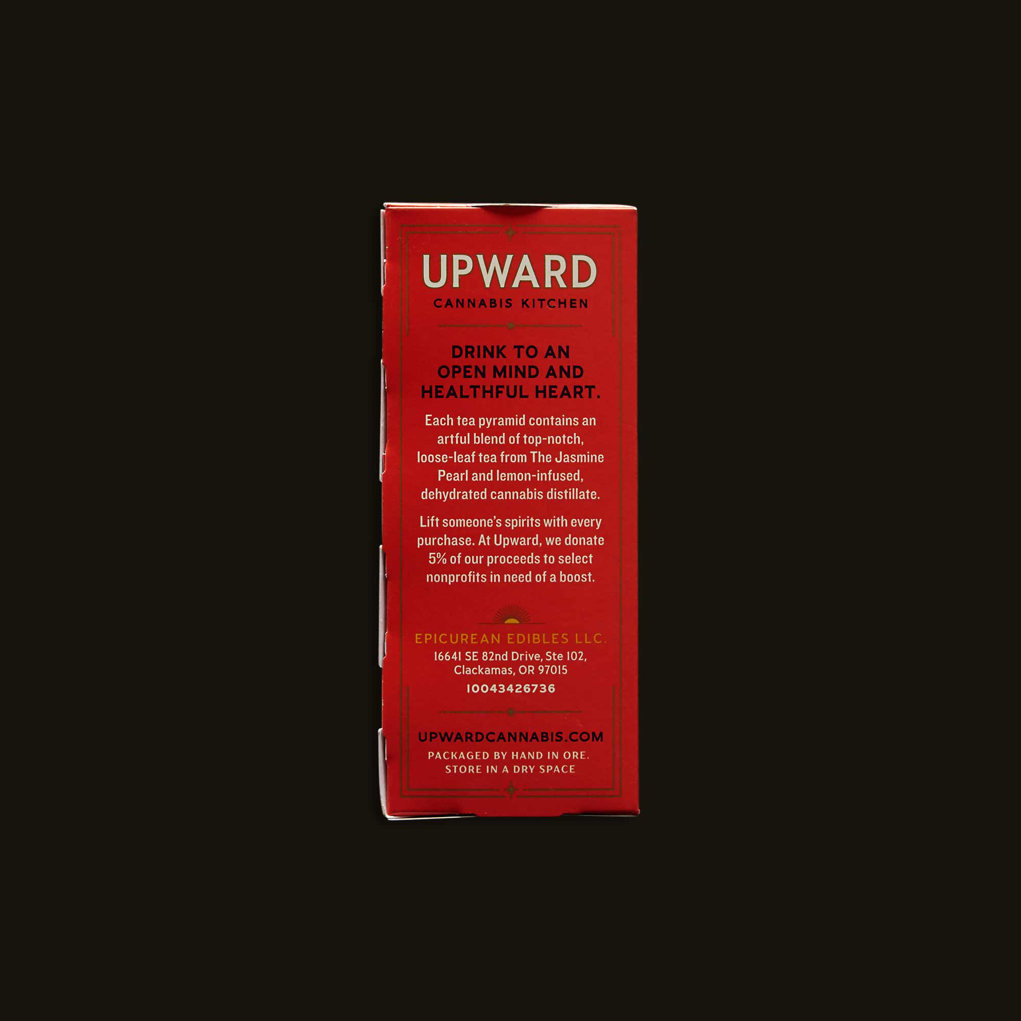 Upward Cannabis Kitchen Jasmine Harmony & Lemon Piqmiup
