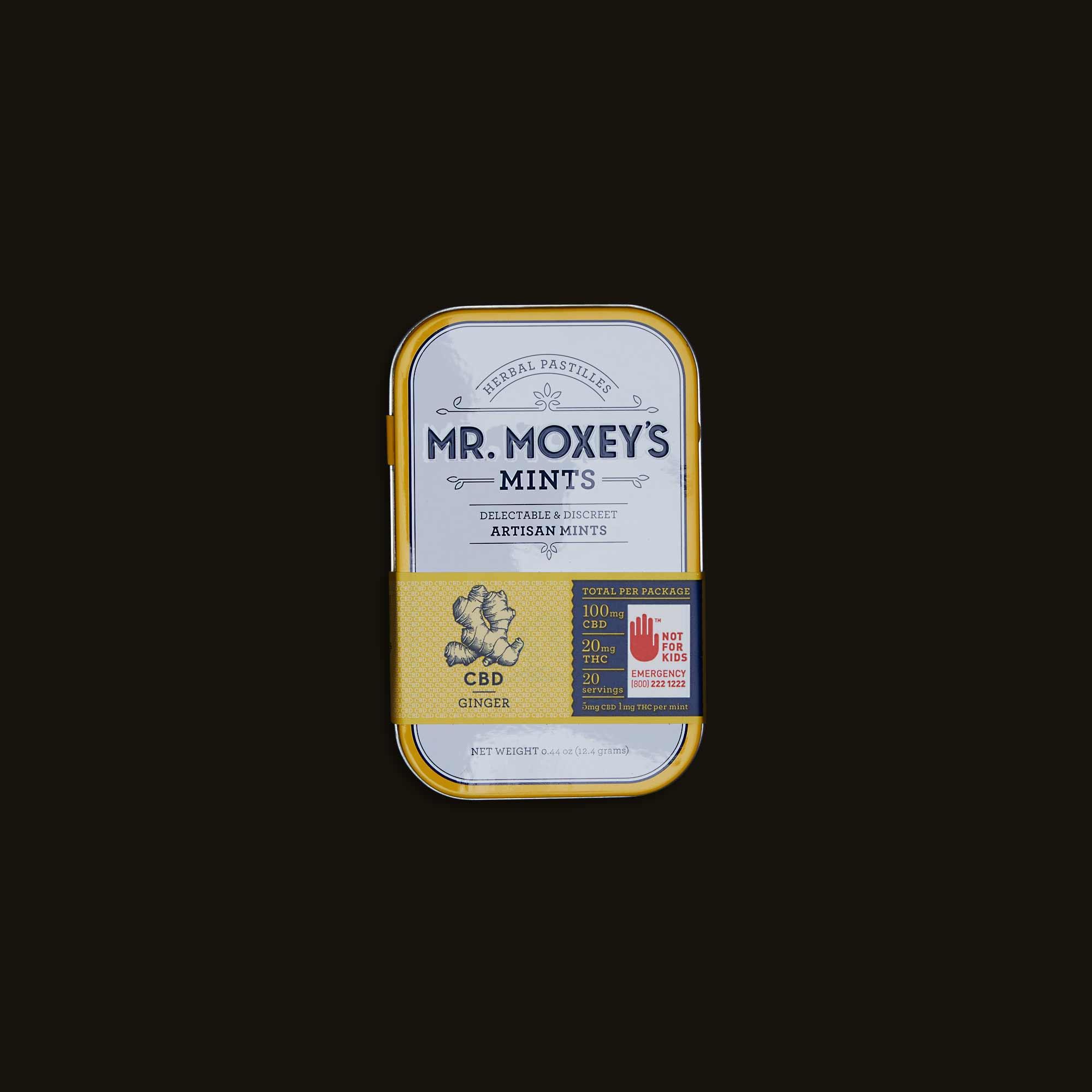 Mr. Moxey's Mints CBD Ginger Mints
