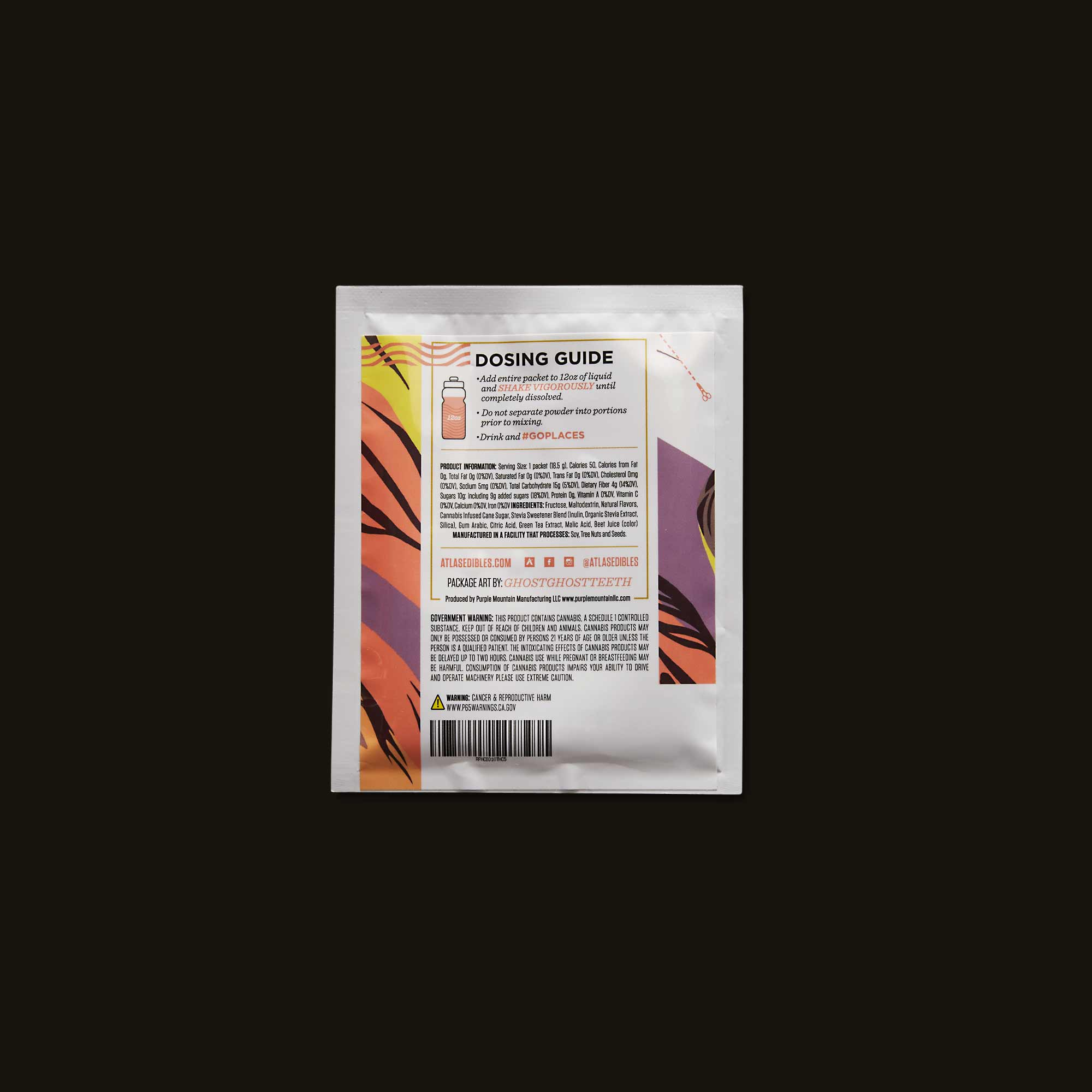 Atlas Edibles Raspberry & Hibiscus Beverage Mix