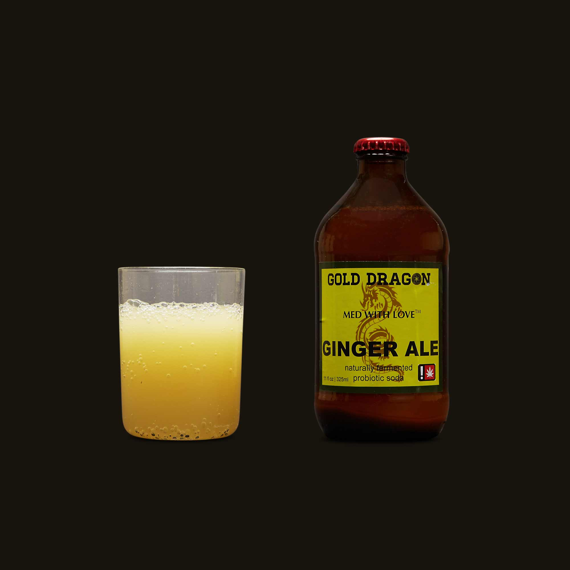 Med with Love Gold Dragon Ginger Ale