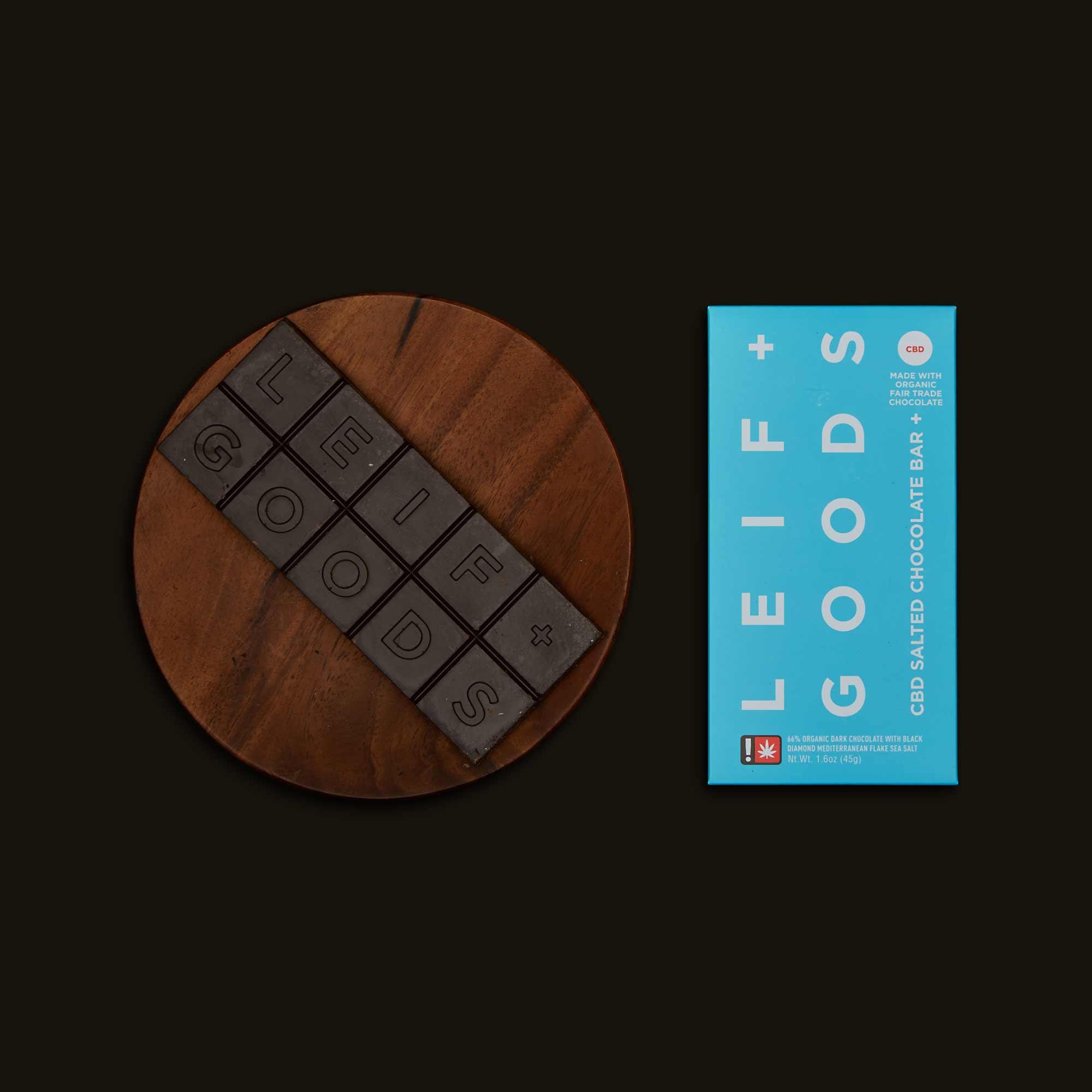 Leif Goods CBD Salted Chocolate Bar
