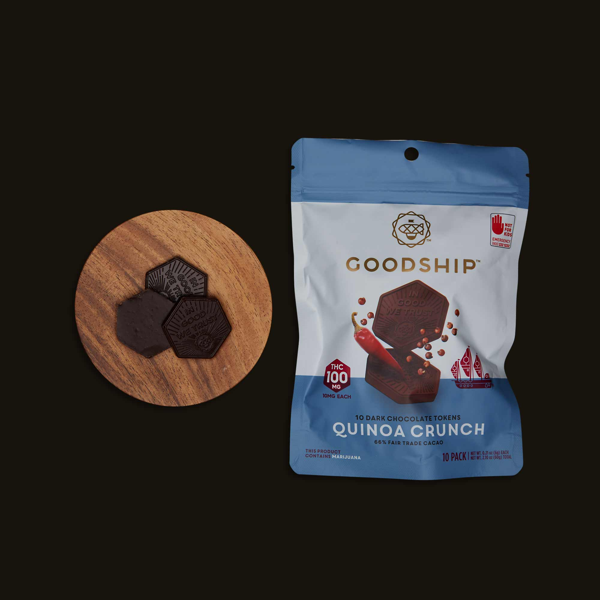 Goodship Quinoa Crunch Chocolate Tokens