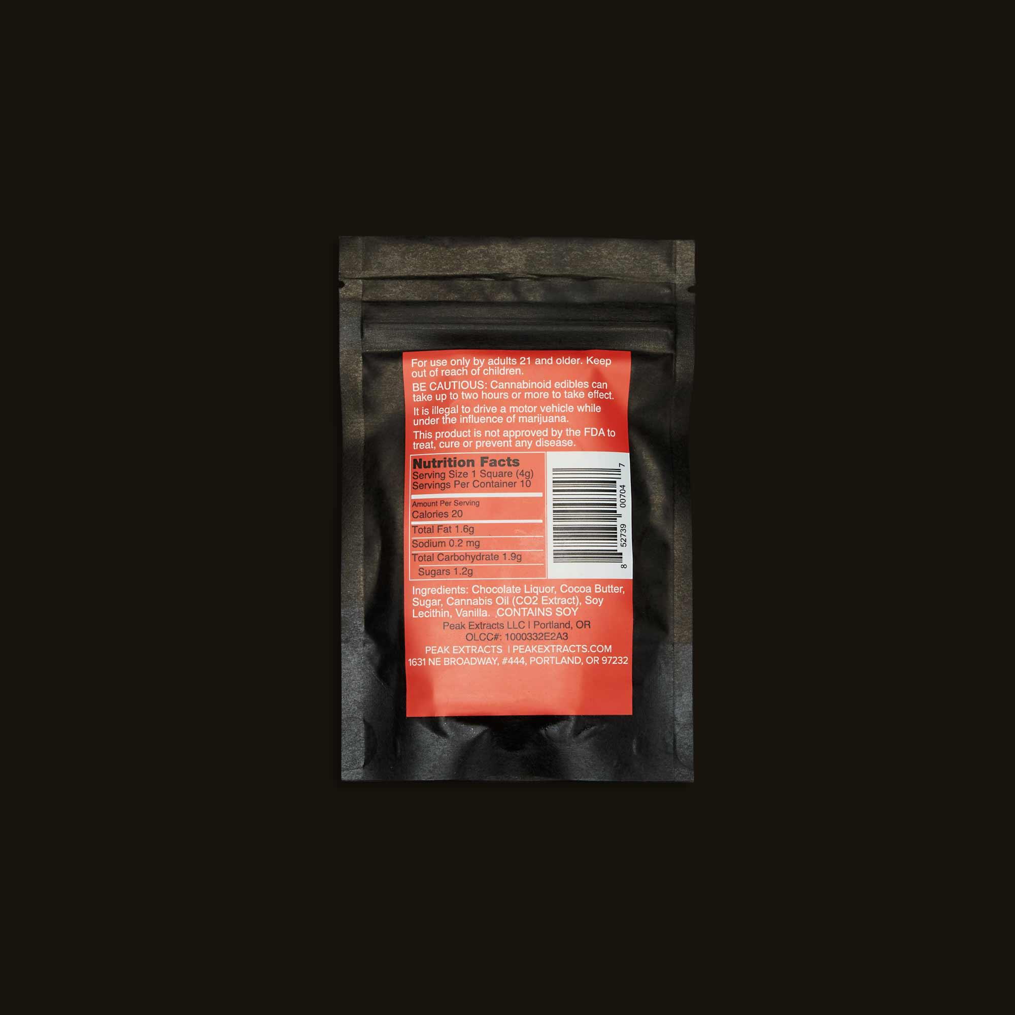 Peak Extracts Gorilla Glue Chocolate Bar