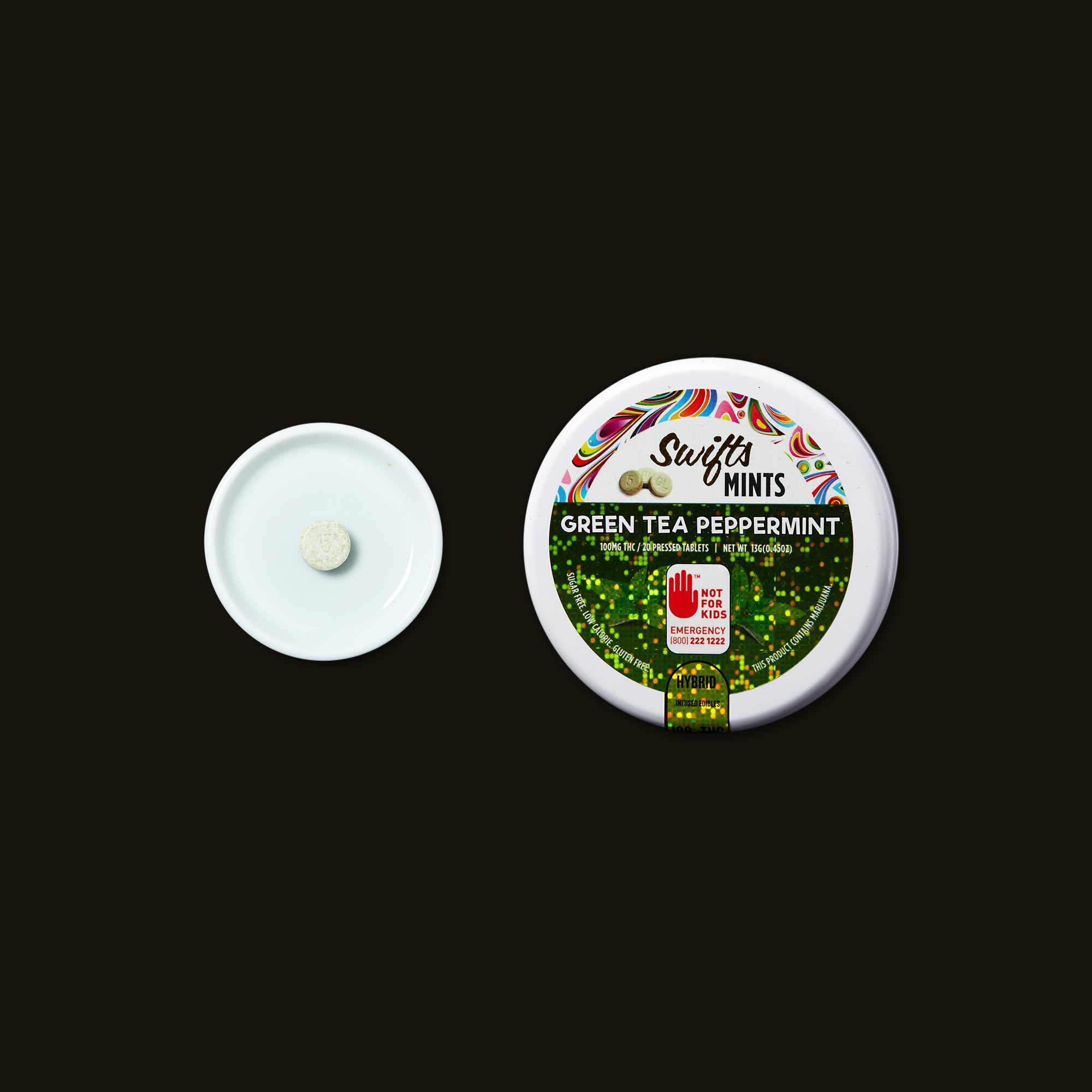 Swifts Edibles Green Tea & Peppermint Mints