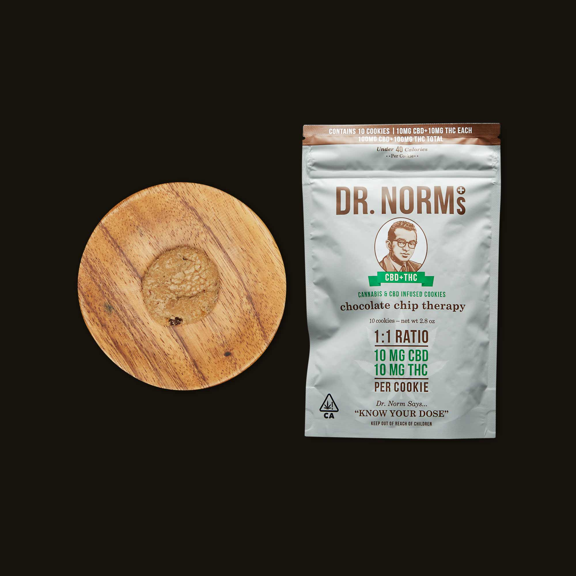 Dr. Norm's Chocolate Chip Therapy 1:1 CBD:THC