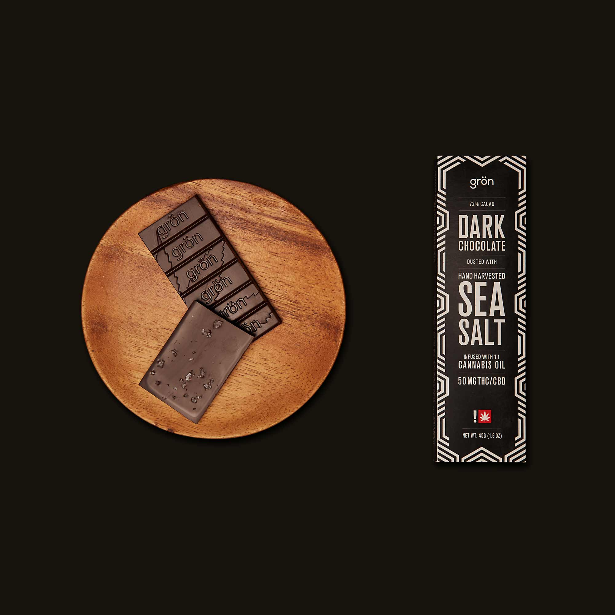 Grön Dark Chocolate Sea Salt Bar 1:1