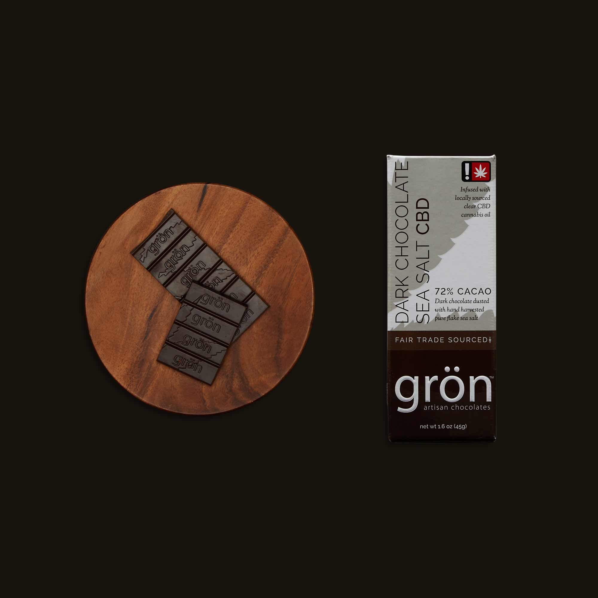 Grön Dark Chocolate Sea Salt Bar CBD
