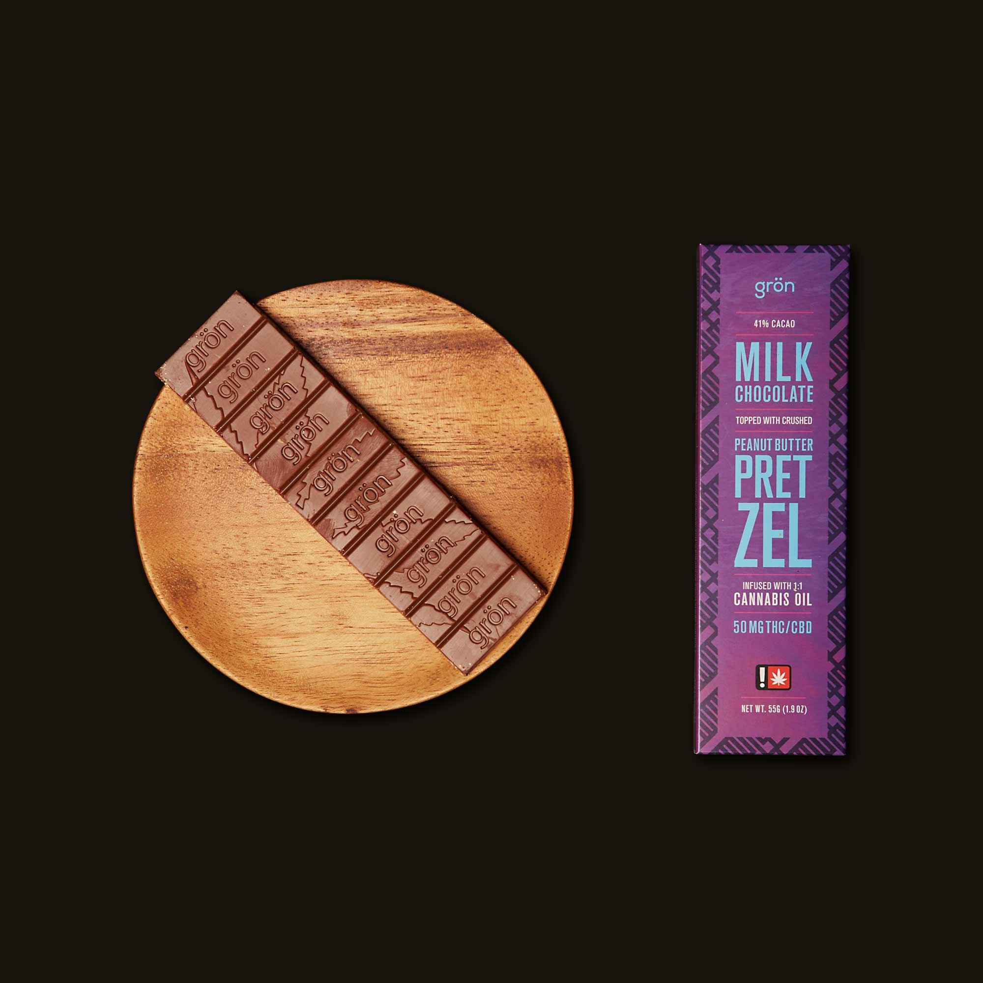 Grön Milk Chocolate Peanut Butter Pretzel Bar 1:1