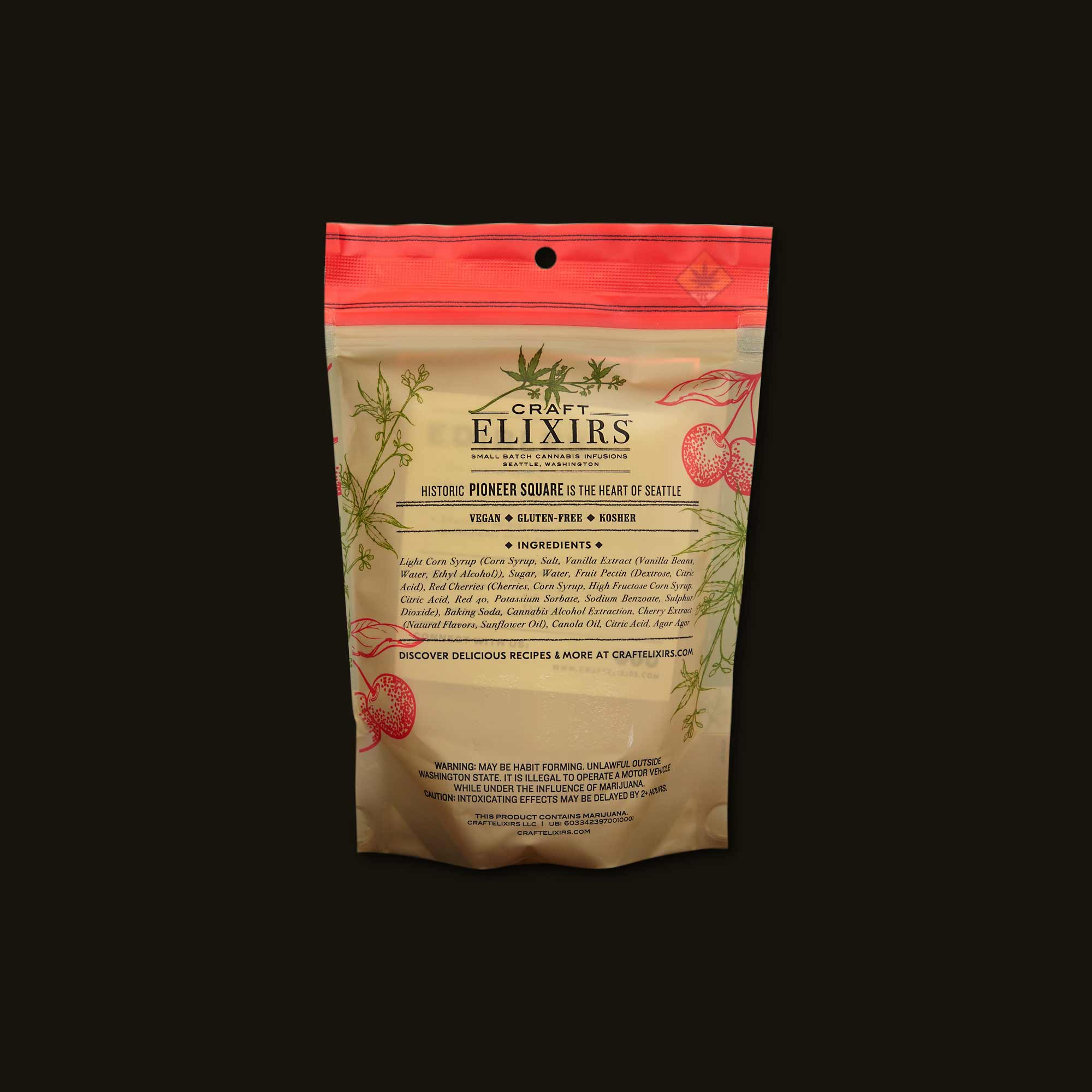 Craft Elixirs Sour Cherry Pioneer Squares