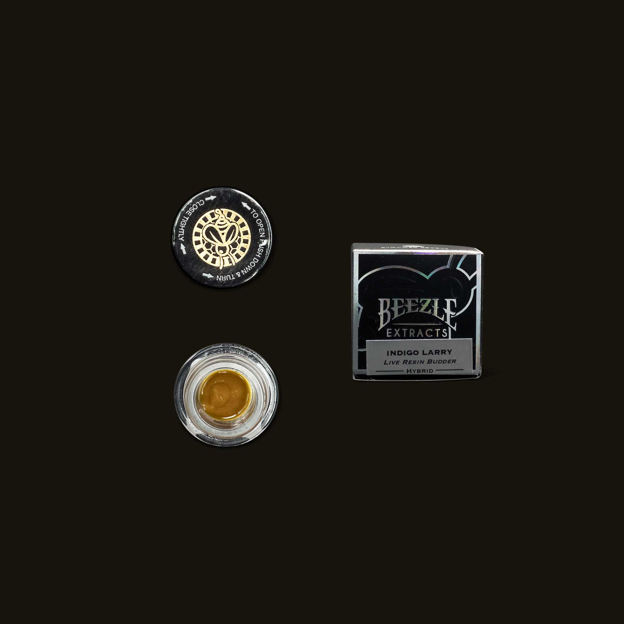 Beezle Indigo Larry Live Resin Budder