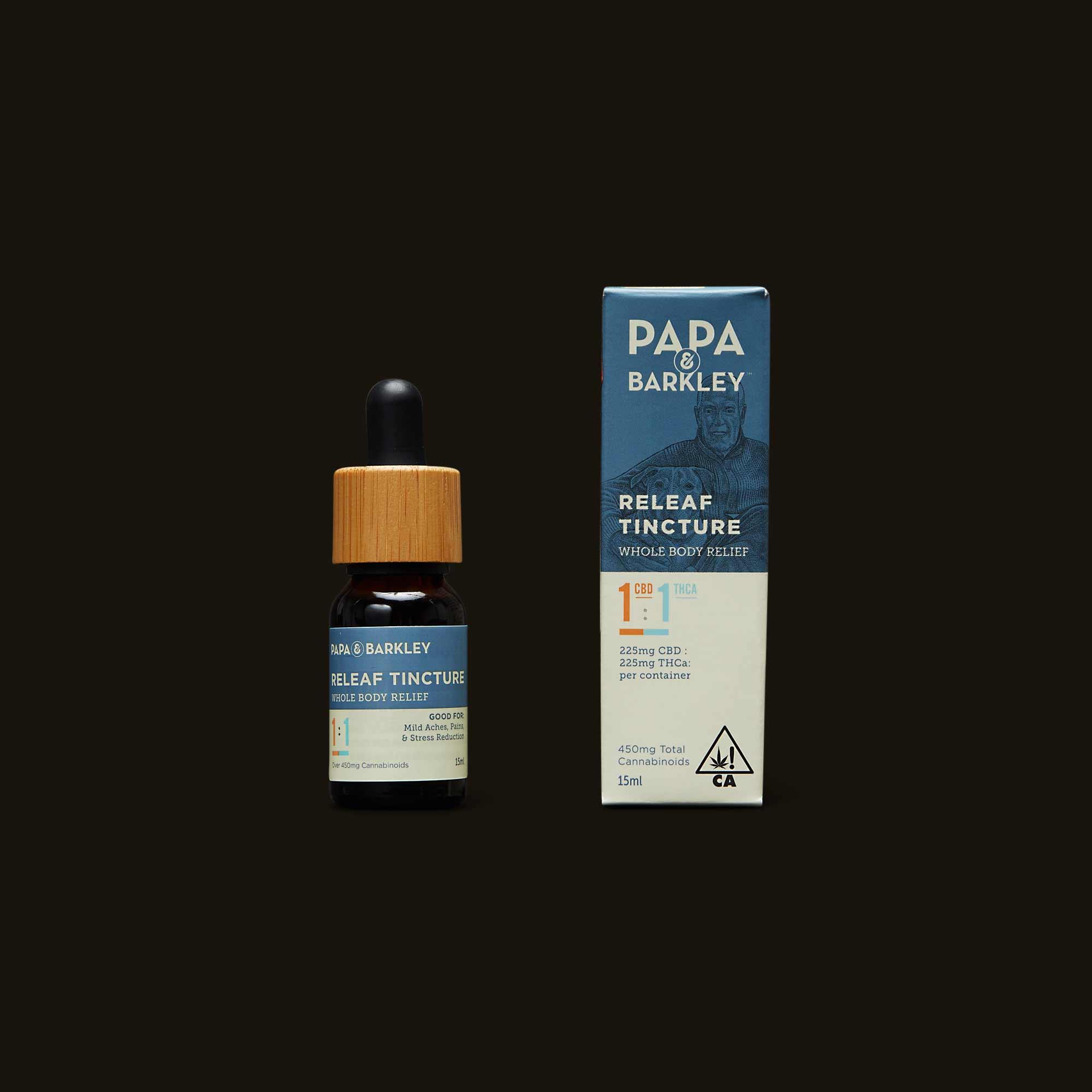Papa & Barkley 1:1 CBD:THCa Releaf Tincture