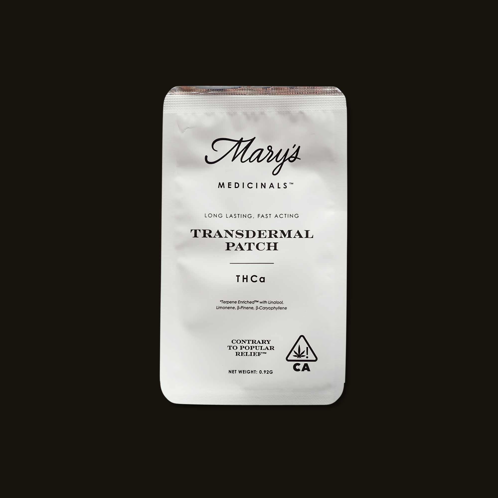 Mary's Medicinals THCa Transdermal Patch