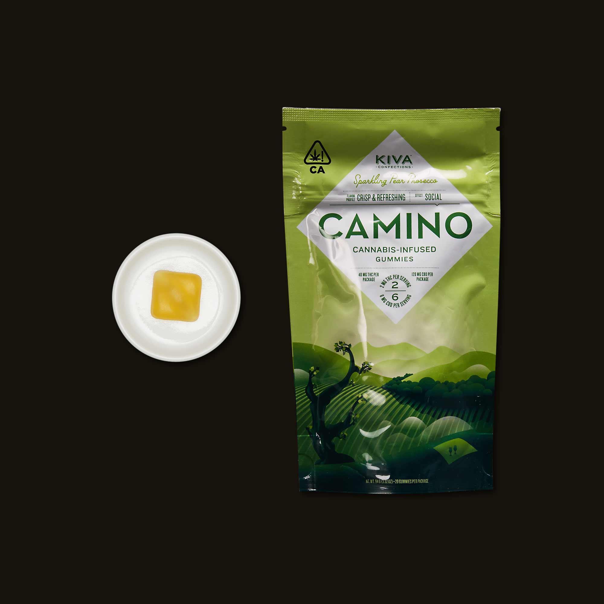 Kiva Camino Sparkling Pear Gummies