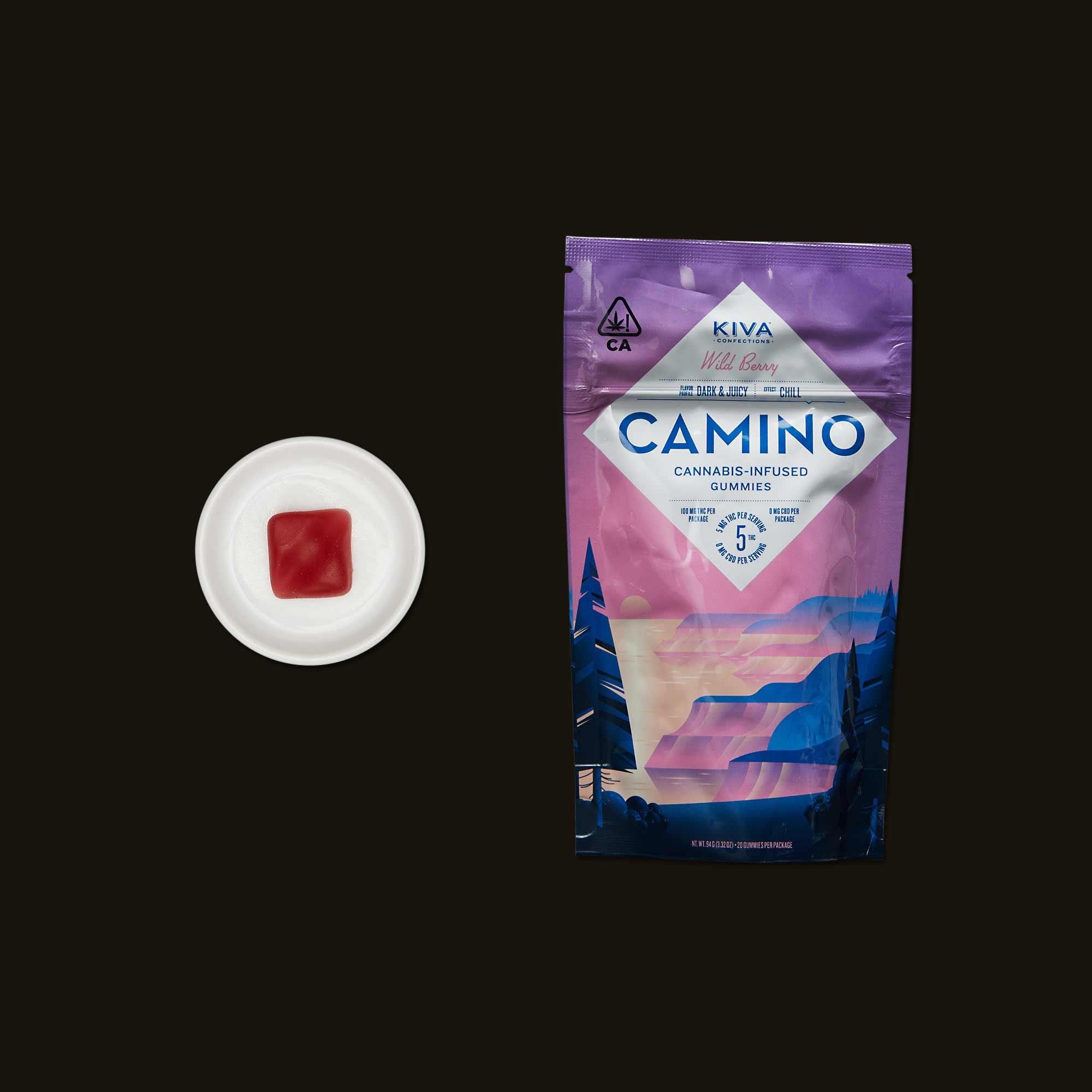 Kiva Camino Wild Berry Gummies