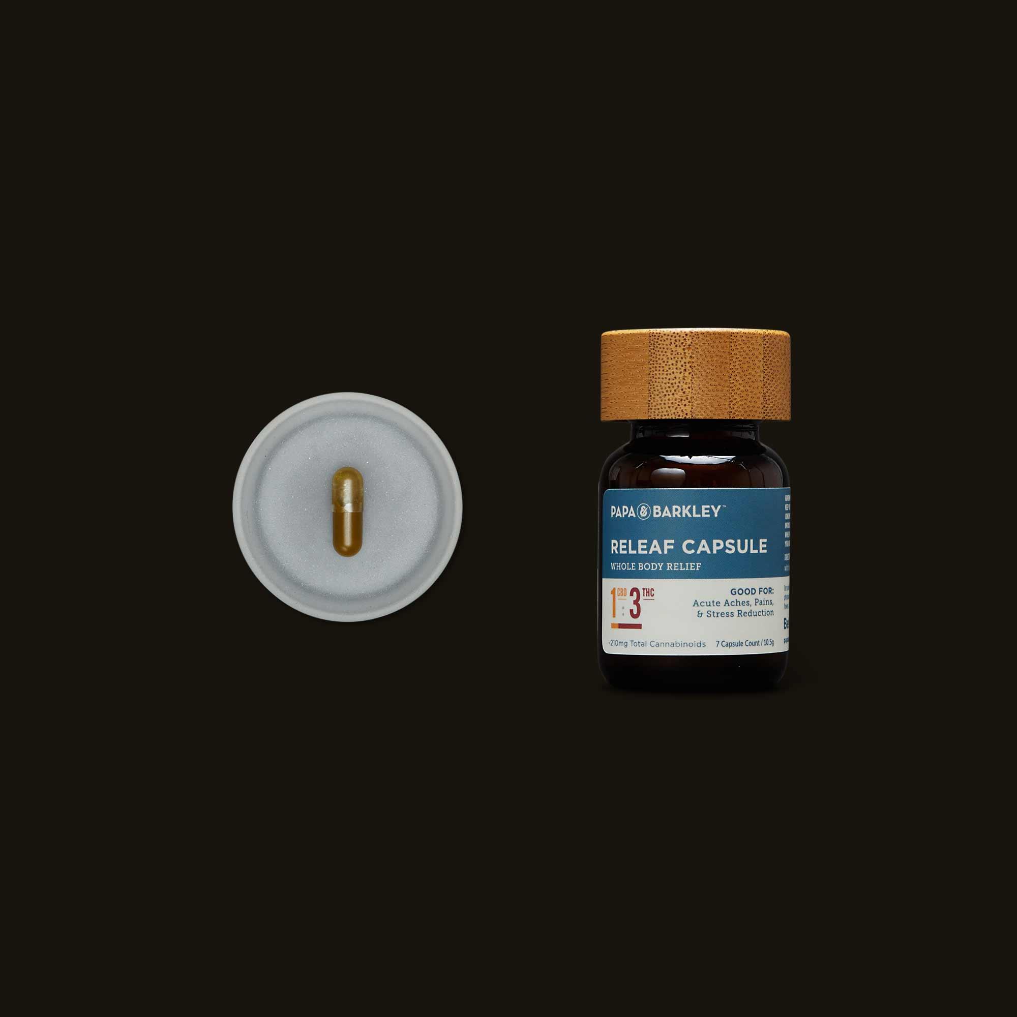 Papa & Barkley 1:3 CBD:THC Releaf Capsule