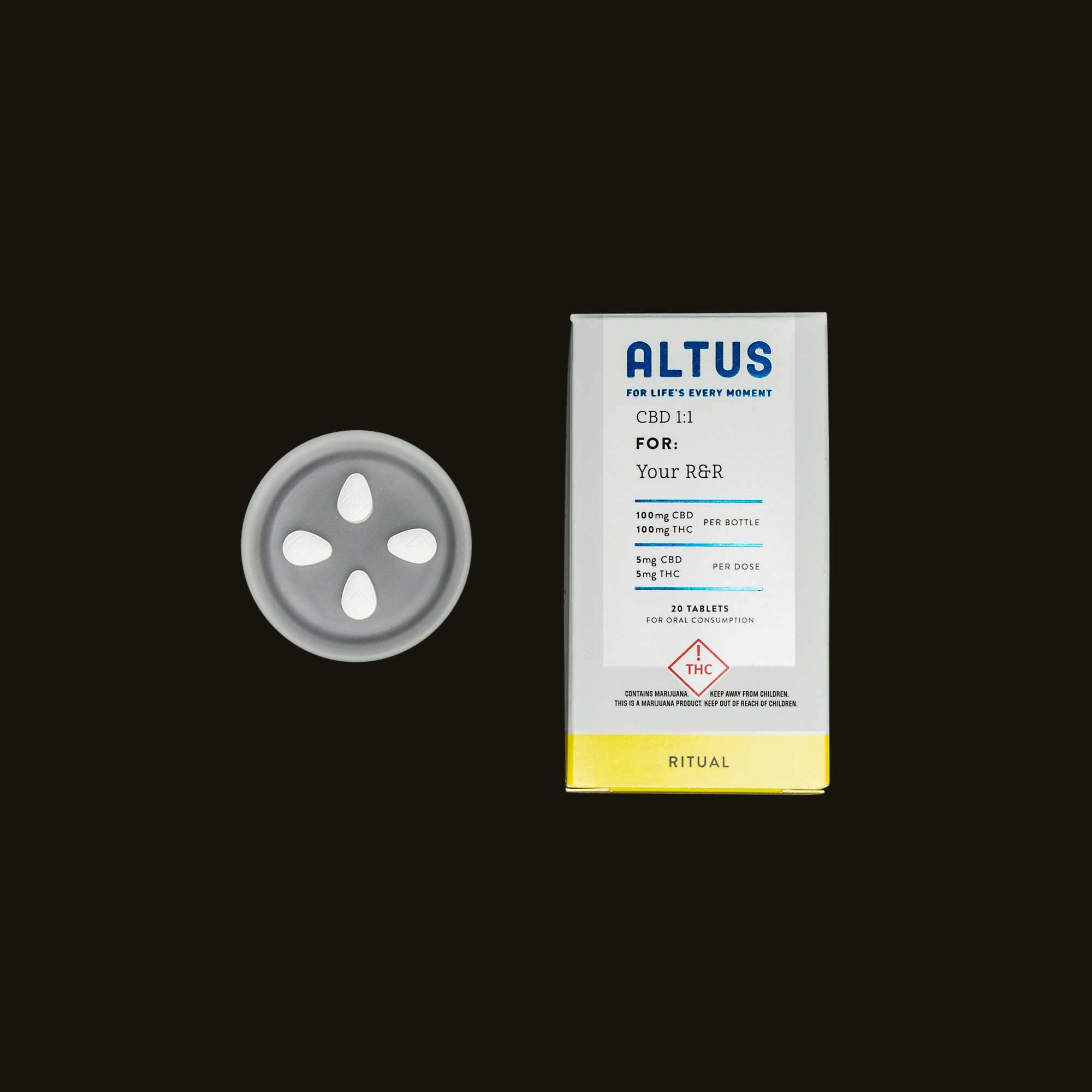 Altus Made Ritual 1:1 CBD:THC Tablets