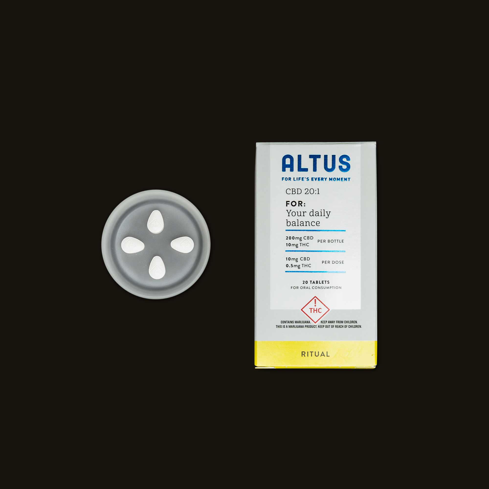 Altus Made Ritual 20:1 CBD:THC Tablets