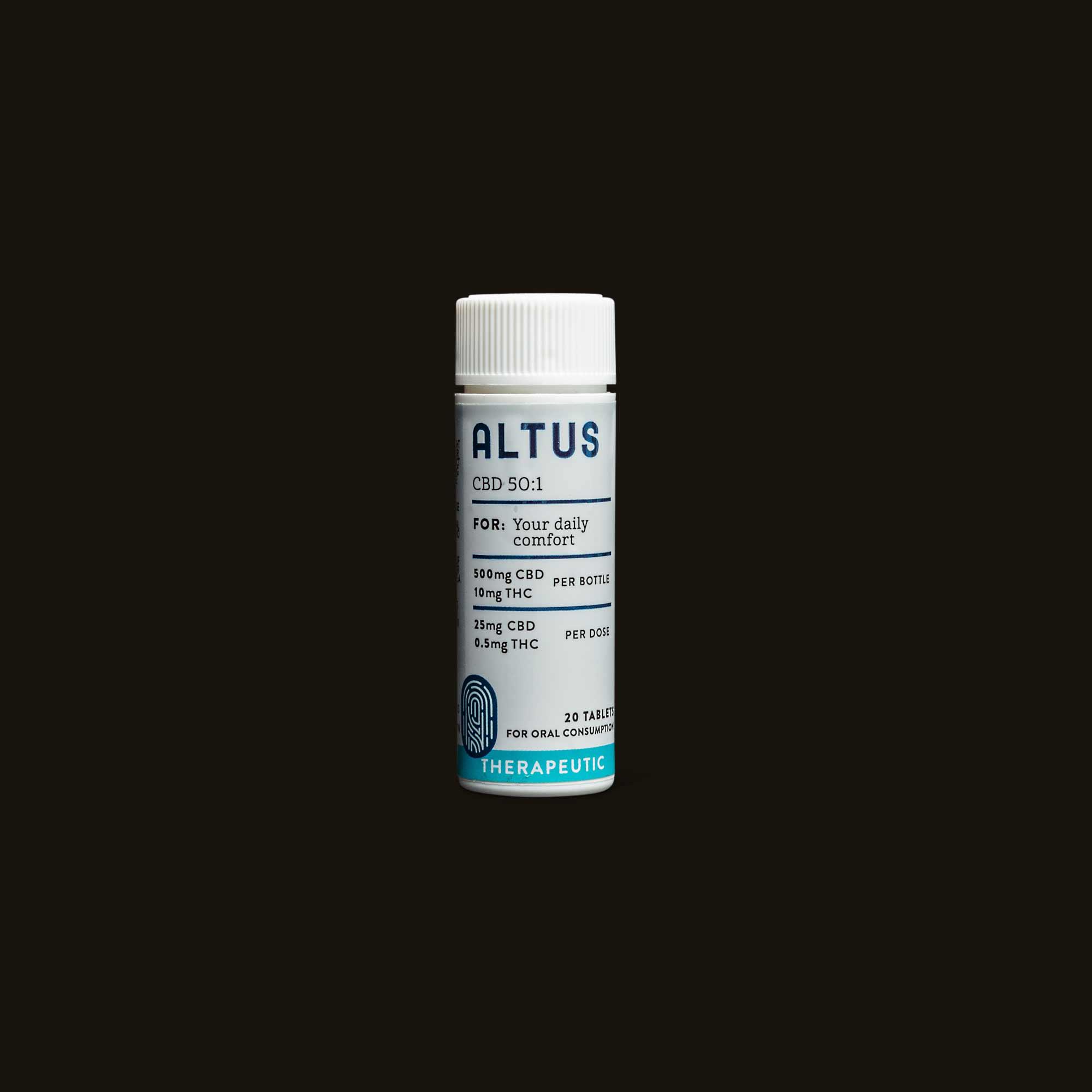 Altus Made Therapeutic 50:1 CBD:THC Tablets