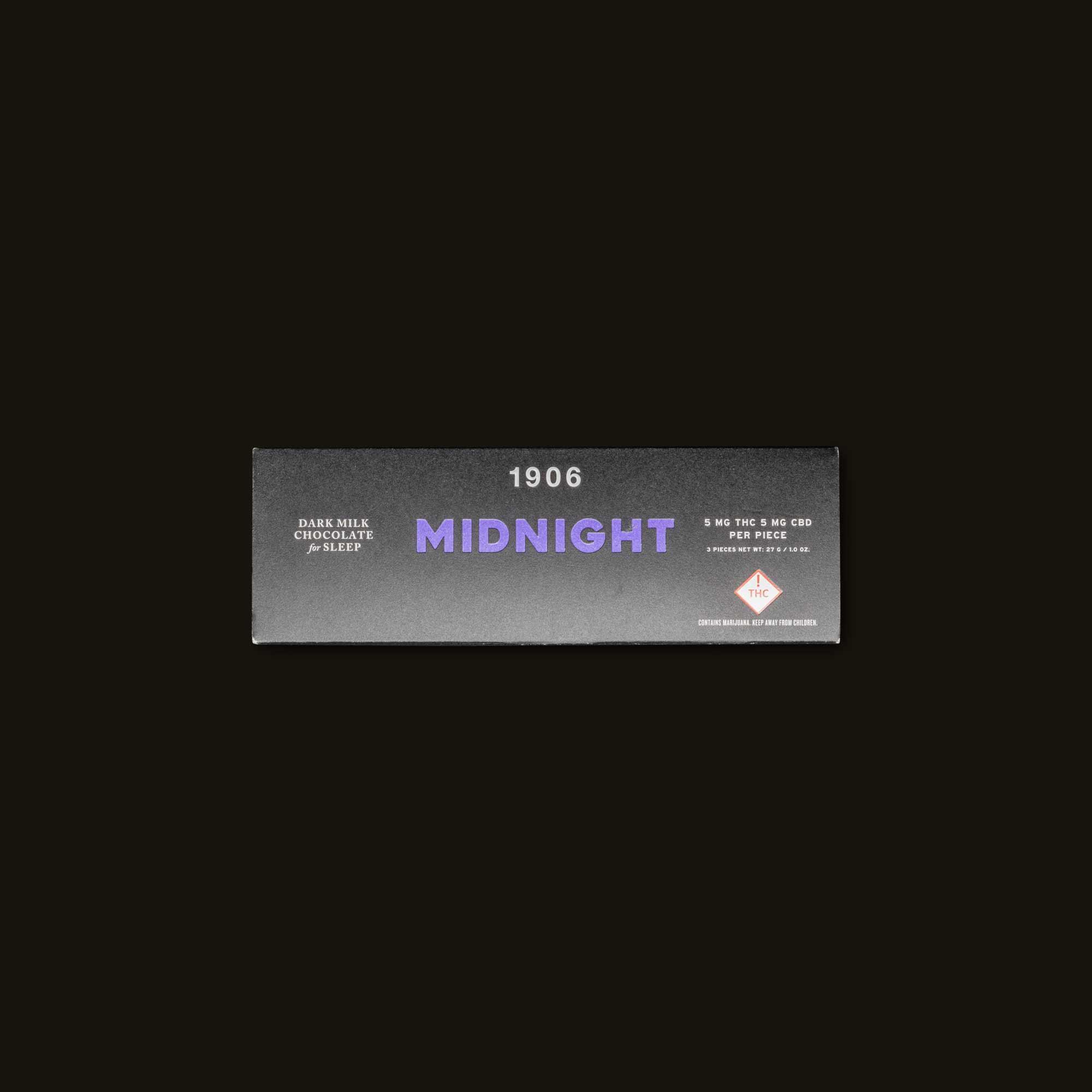 Midnight - 3 chocolates (15mg THC, 15mg CBD)