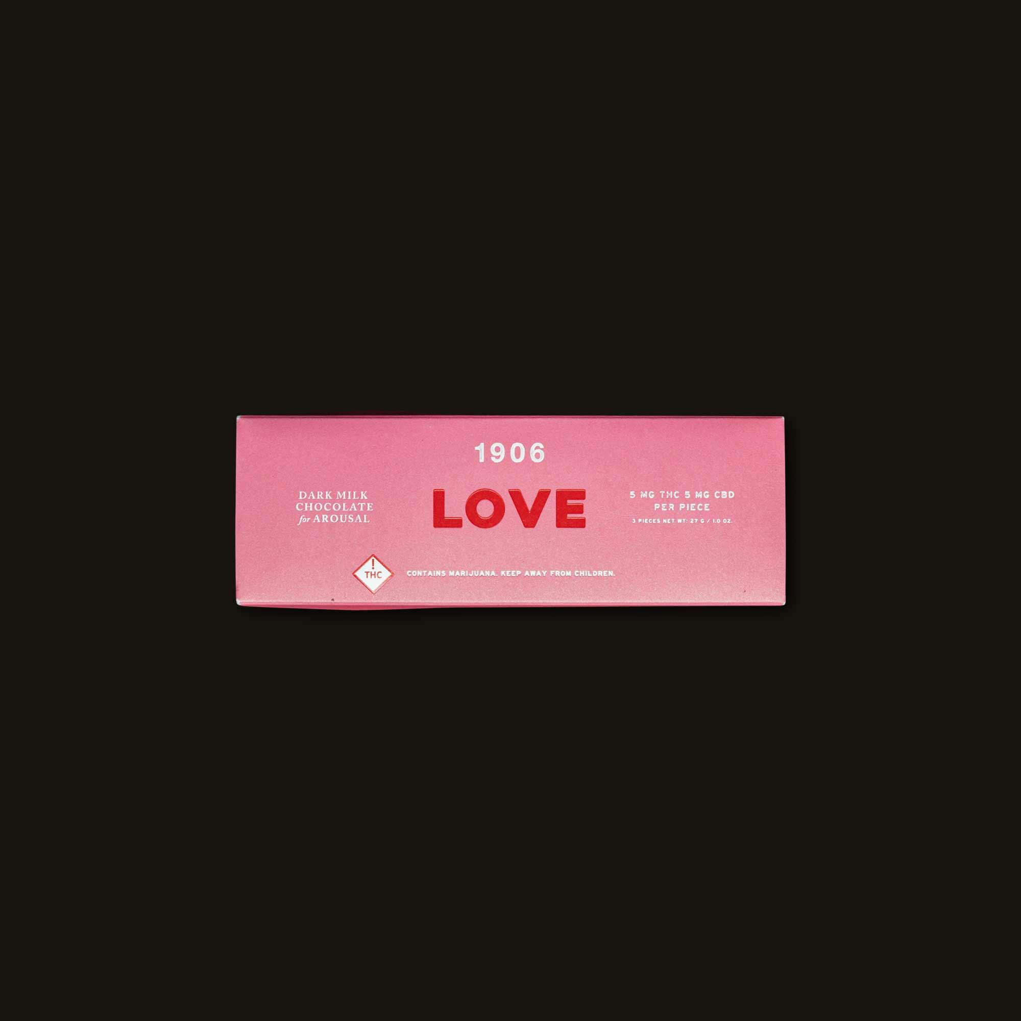 Love - 3 chocolates (15mg THC, 15mg CBD)
