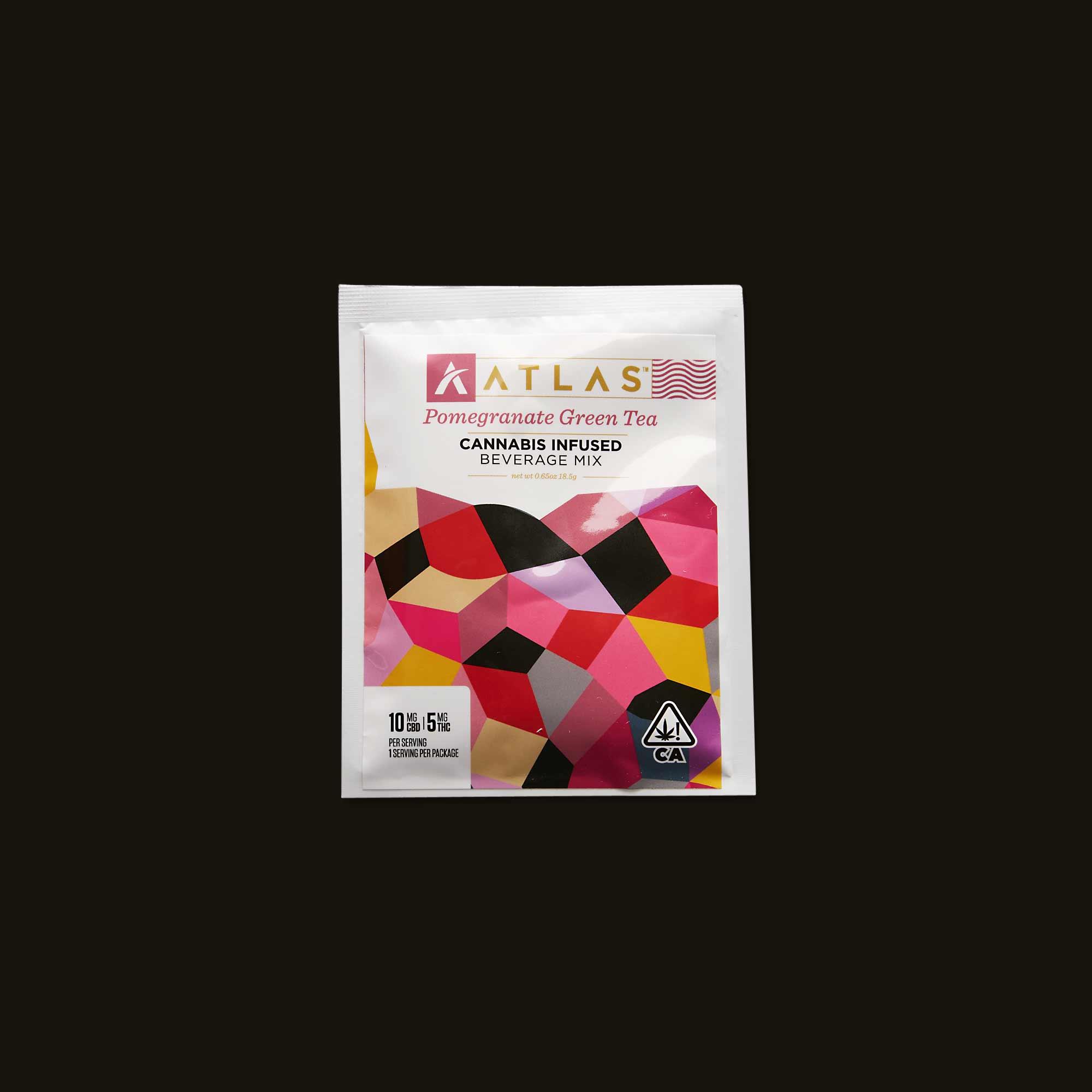 Atlas Edibles Pomegranate Green Tea Beverage Mix