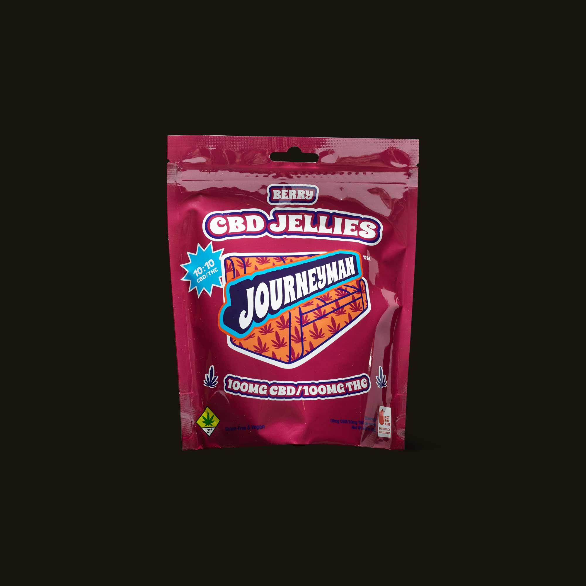 Journeyman Berry 1:1 CBD Jellies