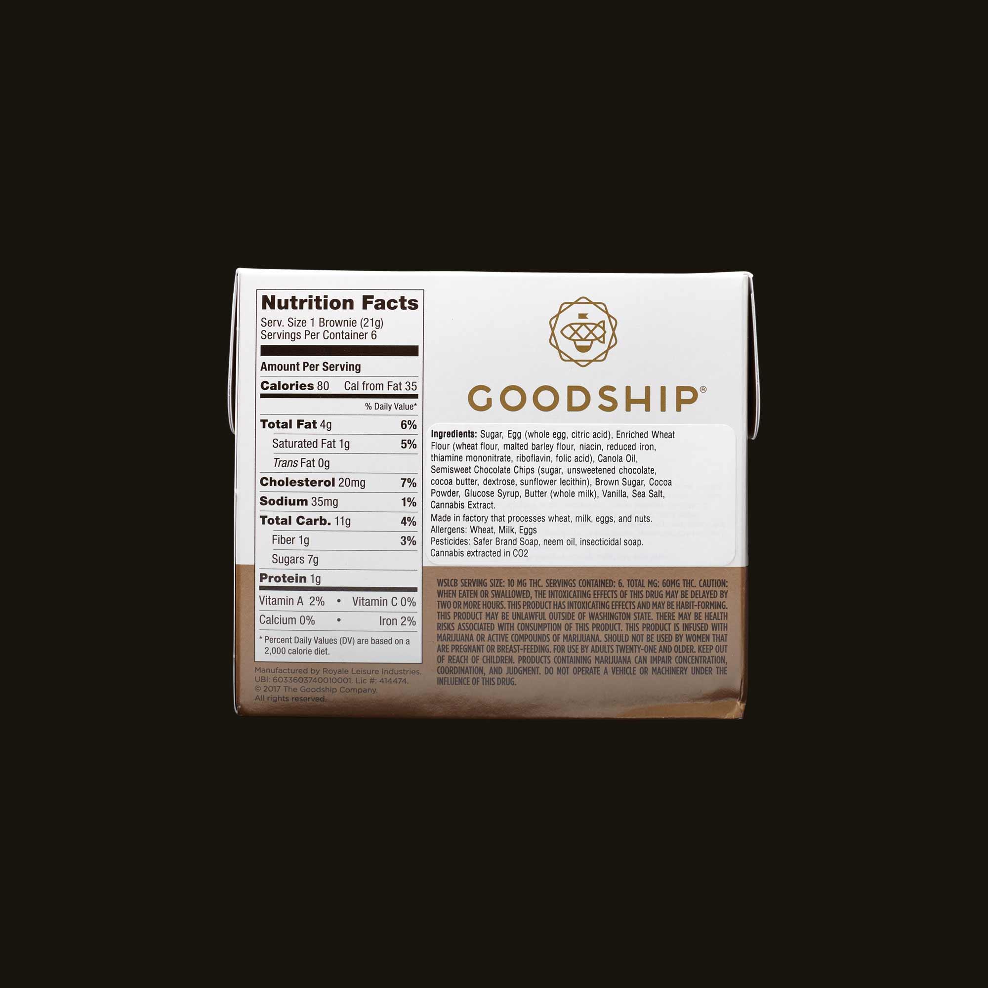 Goodship CBD 1:1 Double Fudge Brownie