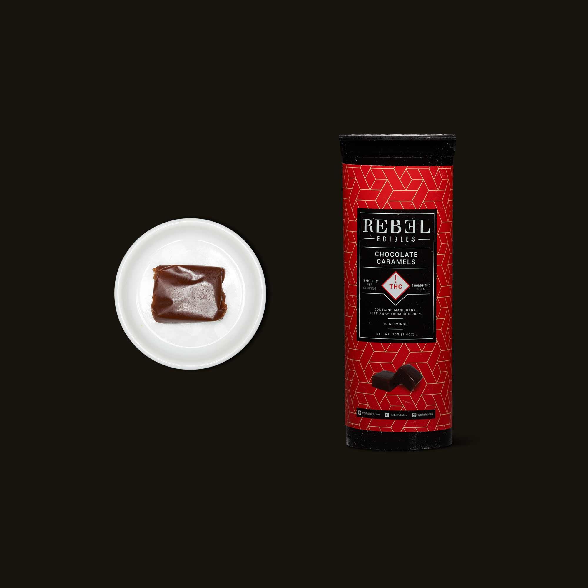 Rebel Edibles Chocolate Caramels