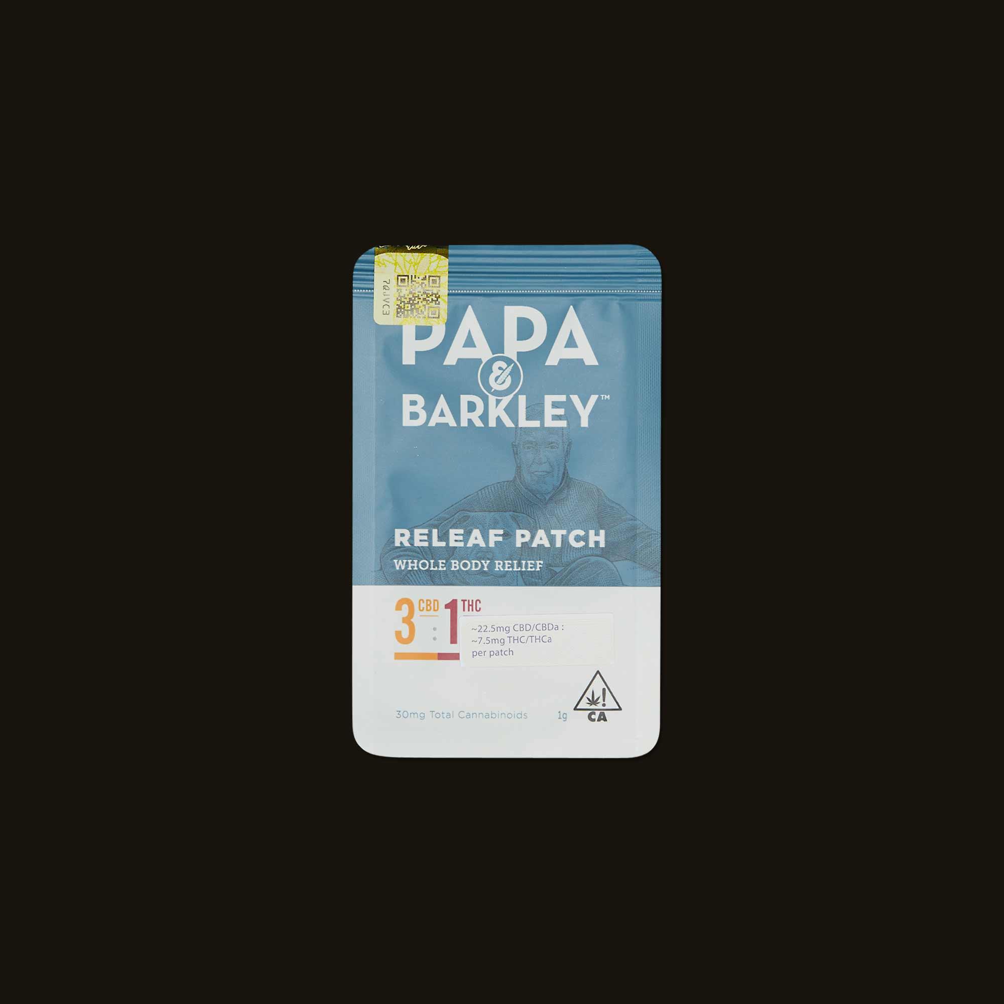 Papa & Barkley 3:1 CBD:THC Releaf Patch