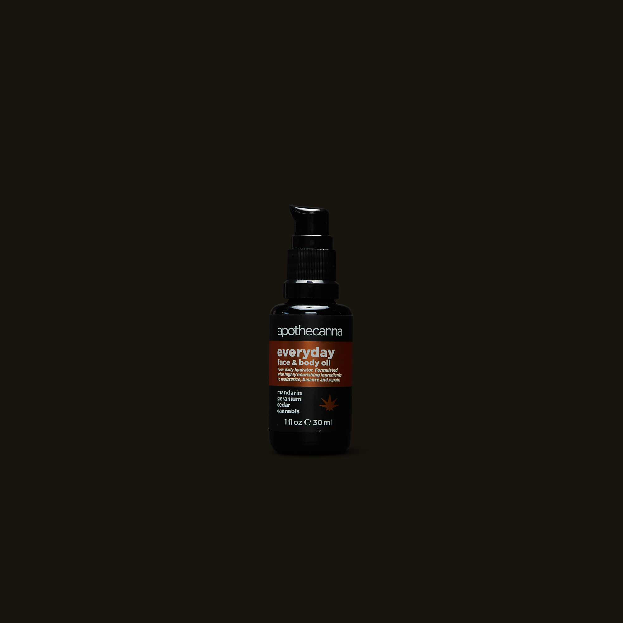 Apothecanna Everyday Face and Body Oil and Moisturizer