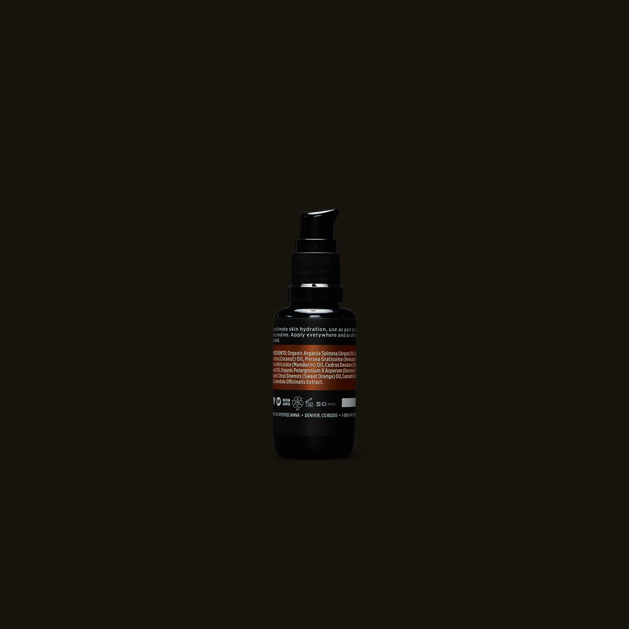 Ingredients for Apothecanna face and body oil