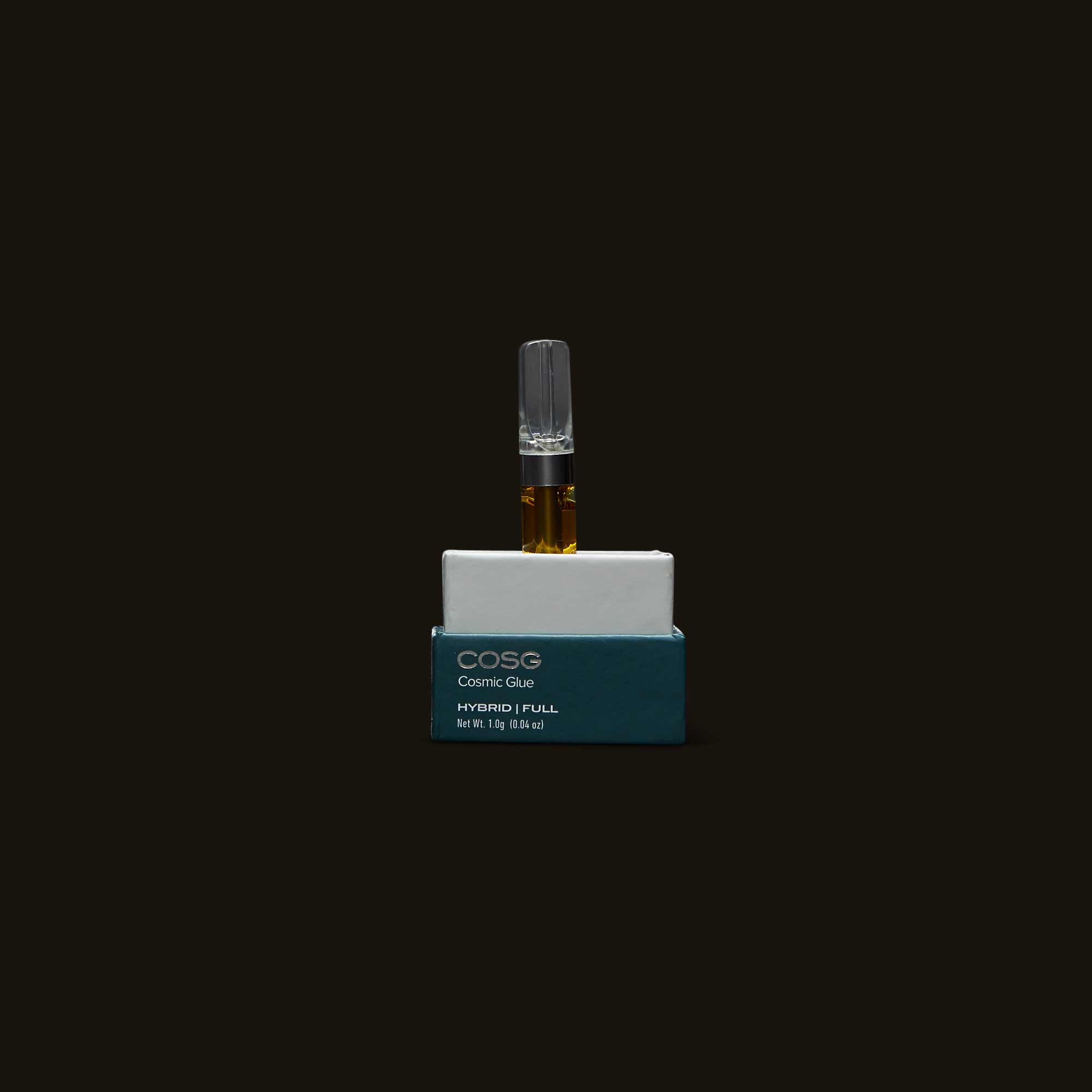 Cosmic Glue Vape Cartridge on display