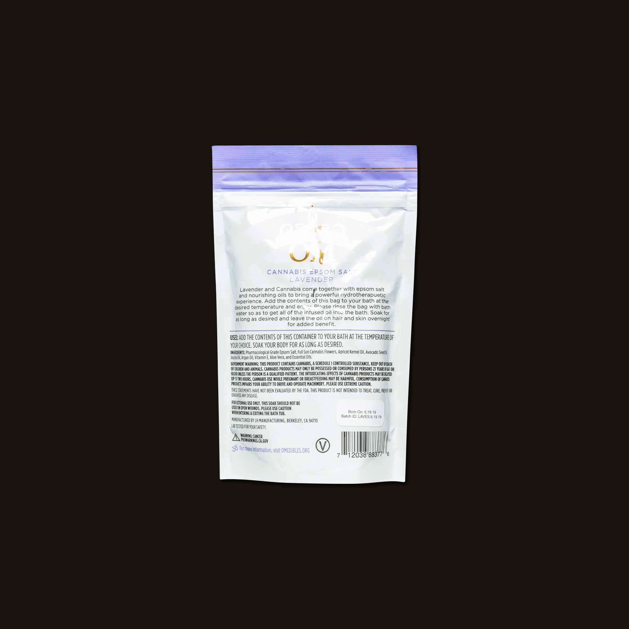 Om Edibles Lavender Epsom Salt