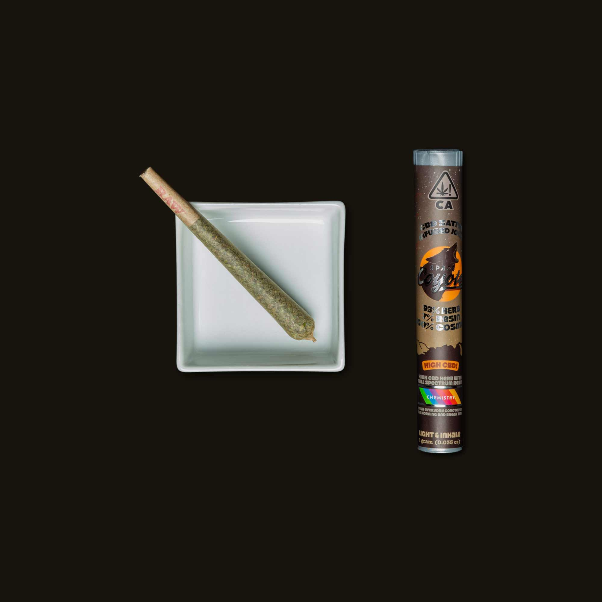 Space Coyote Sativa High CBD Joint